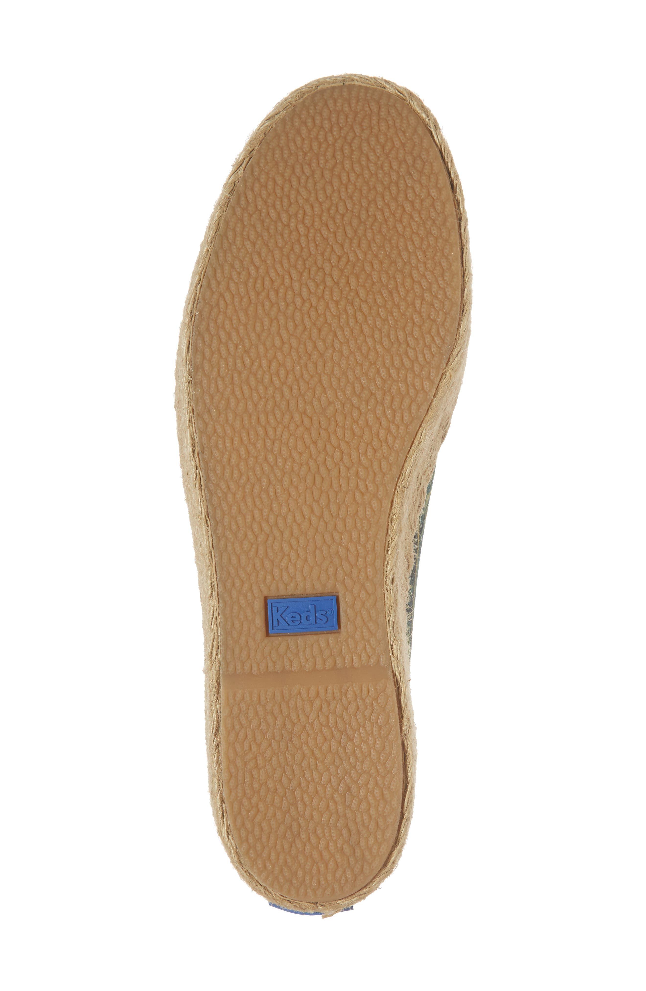 KEDS<SUP>®</SUP>, x Rifle Paper Co. Triple Kick Palms Platform Sneaker, Alternate thumbnail 6, color, 001