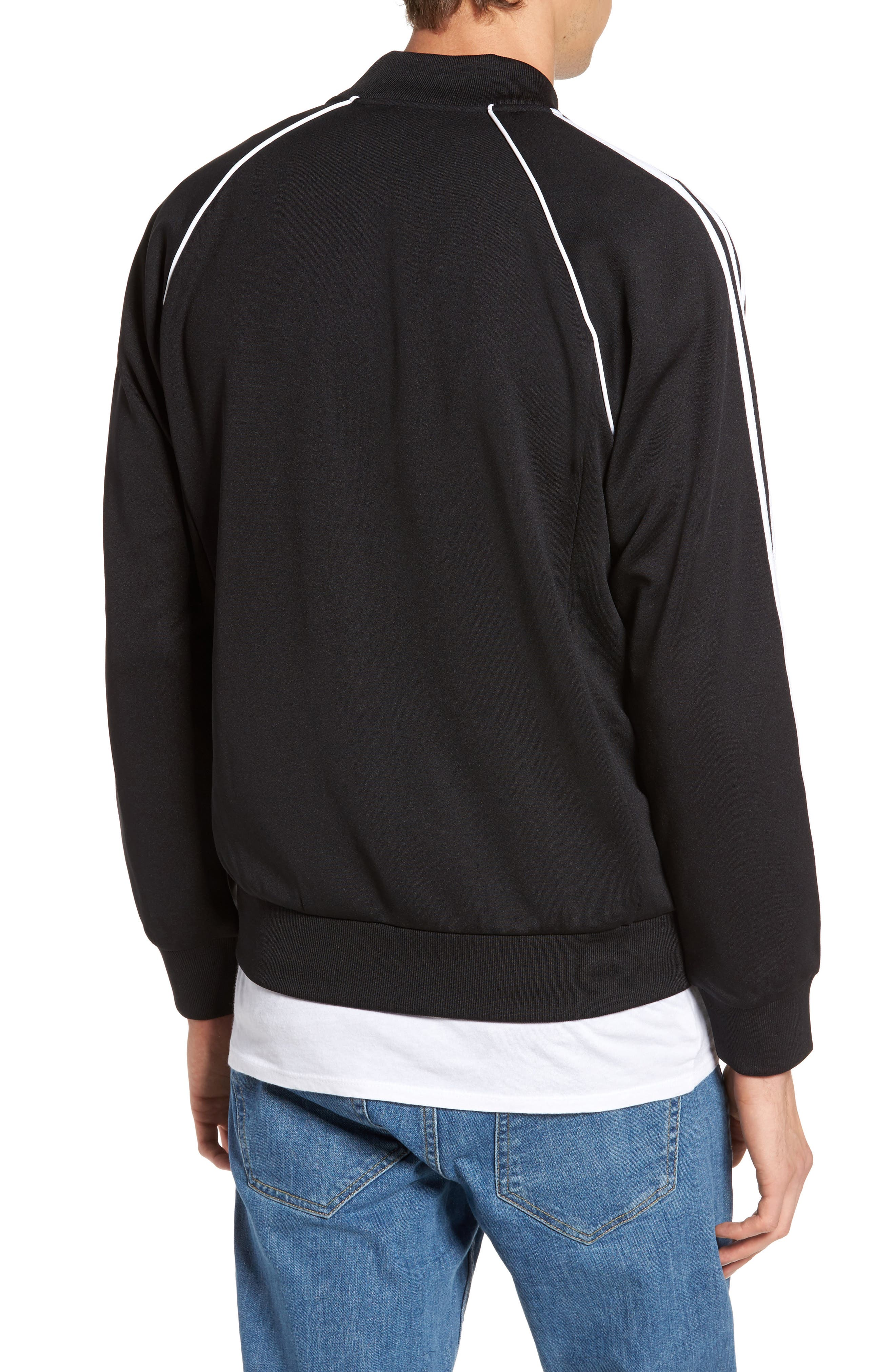 ADIDAS ORIGINALS, SST Track Jacket, Alternate thumbnail 2, color, BLACK