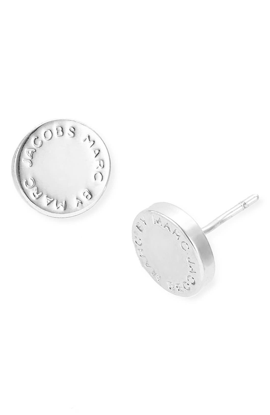 MARC BY MARC JACOBS, Logo Disc Stud Earrings, Alternate thumbnail 2, color, 041