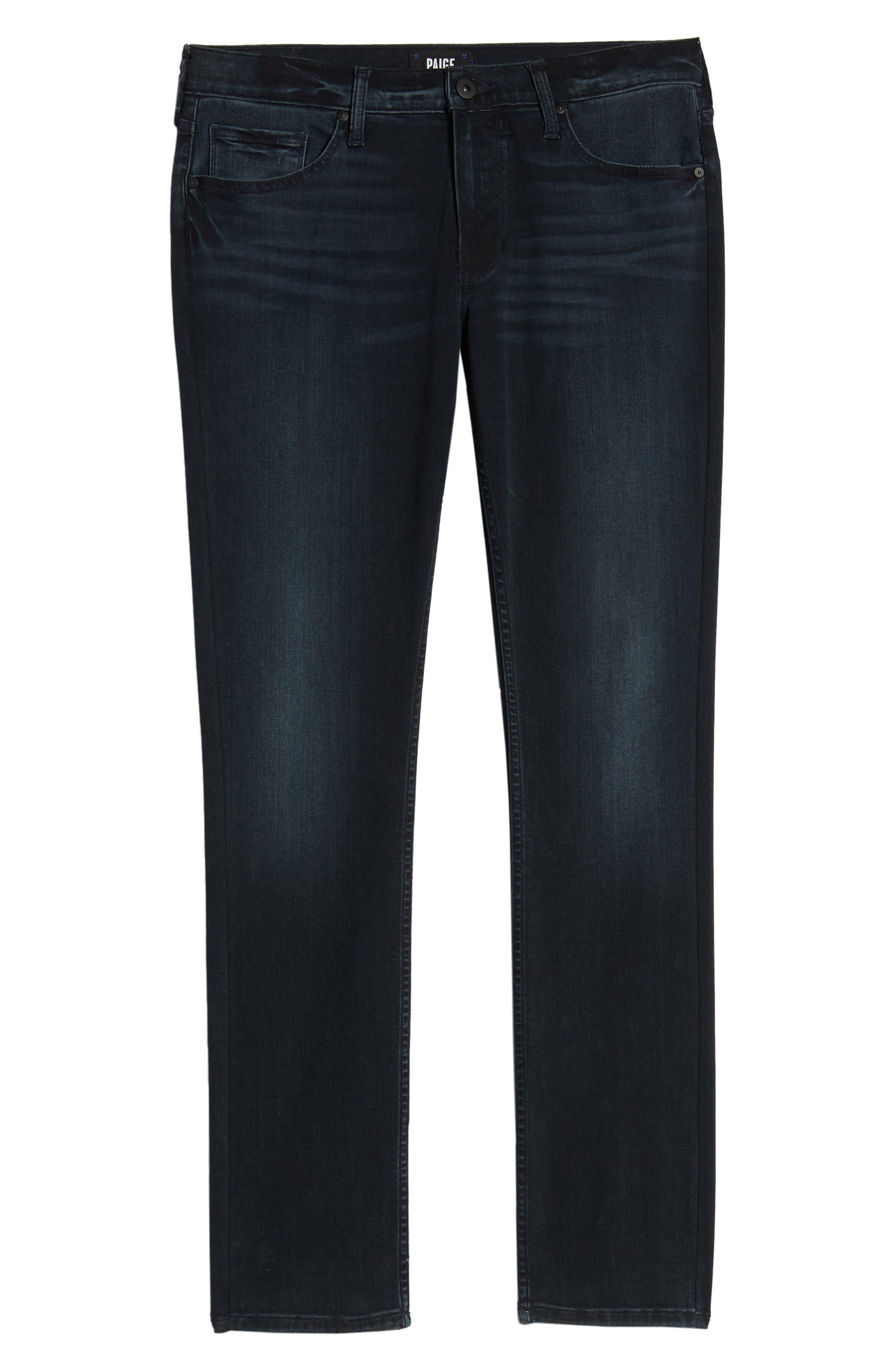 PAIGE, Transcend - Lennox Slim Fit Jeans, Alternate thumbnail 7, color, HOLLAND