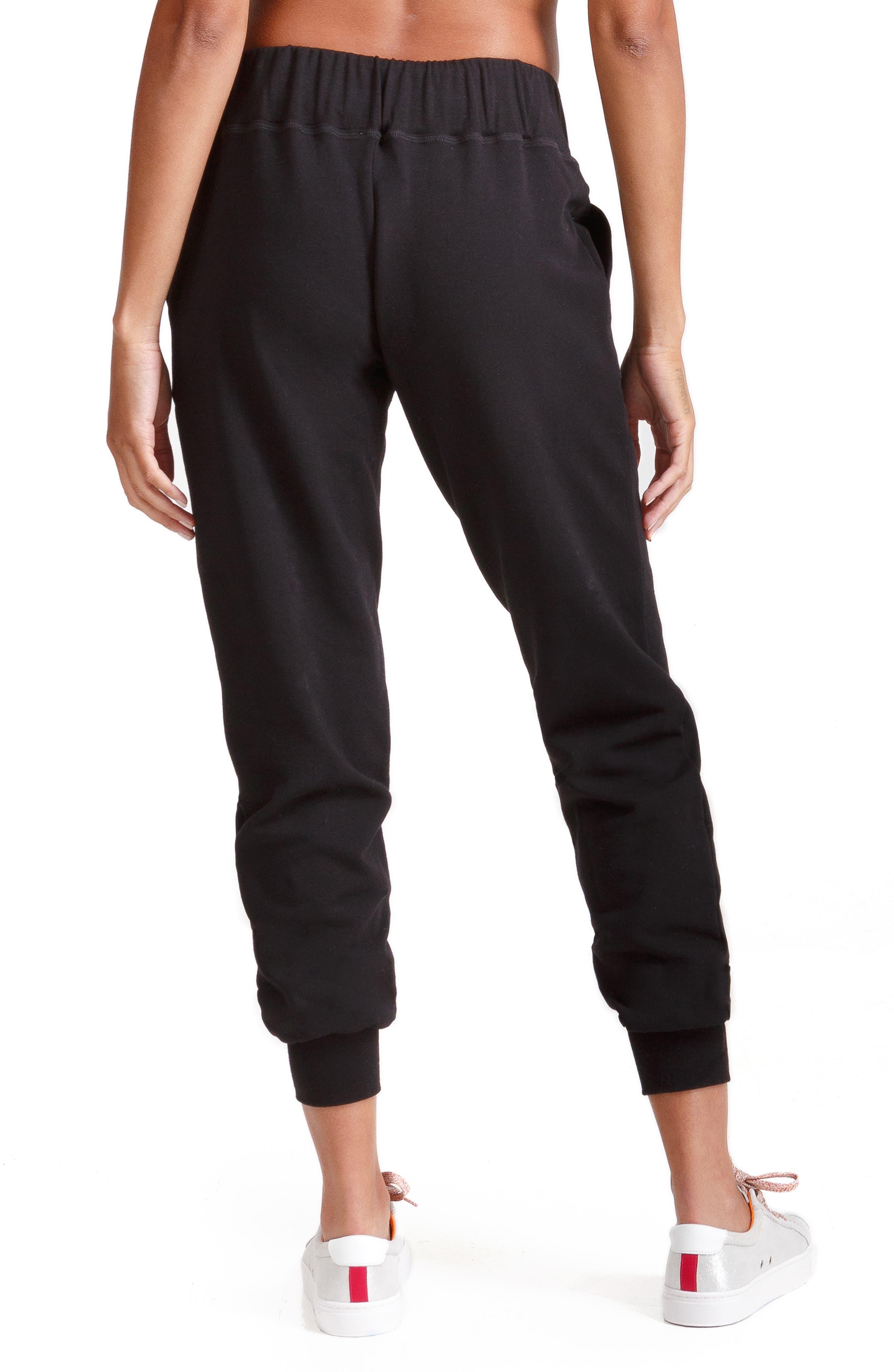INGRID & ISABEL<SUP>®</SUP>, Knit Active Maternity Jogger Pants, Alternate thumbnail 2, color, JET BLACK