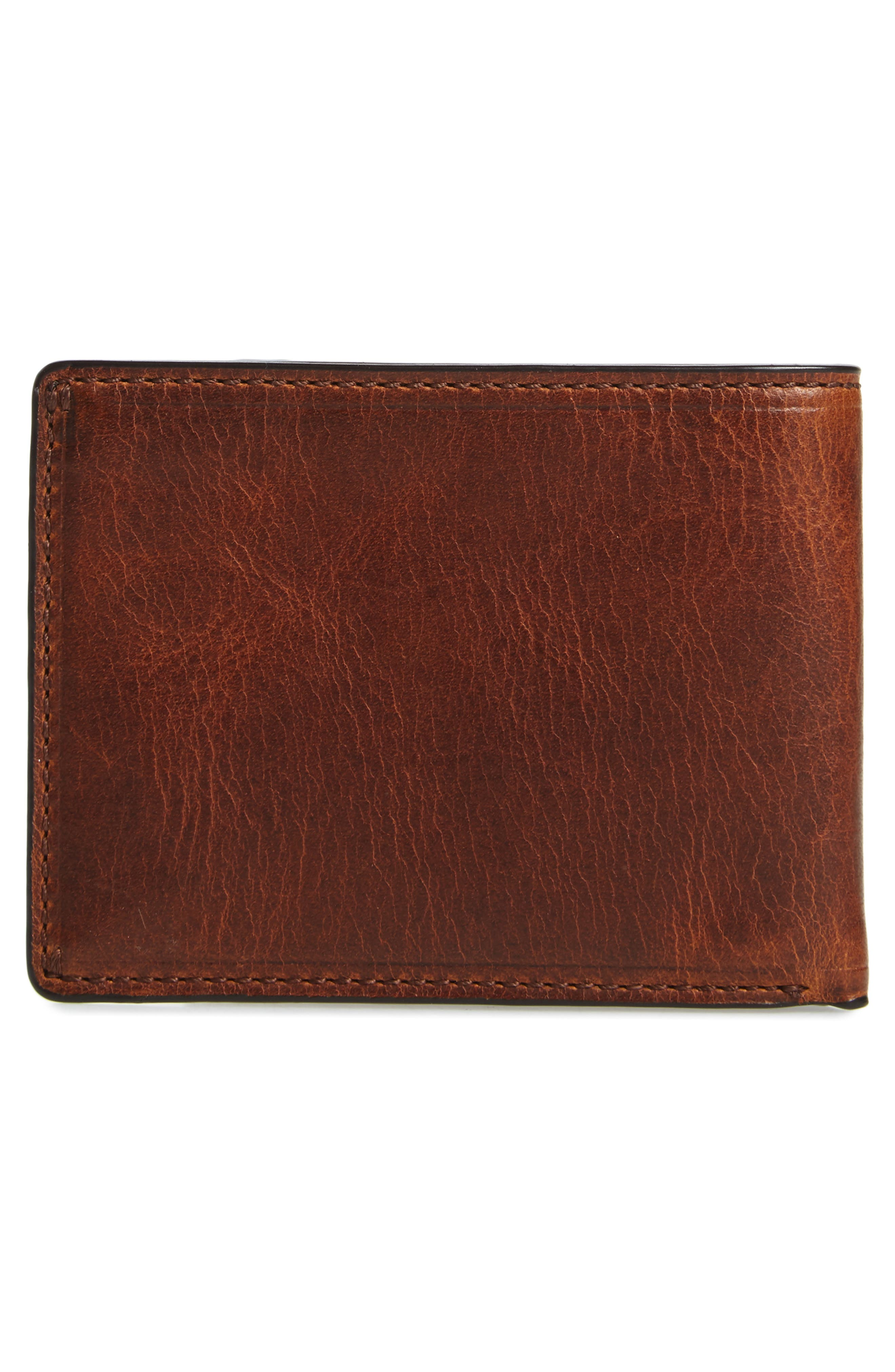FRYE, Logan Leather Wallet, Alternate thumbnail 3, color, COGNAC