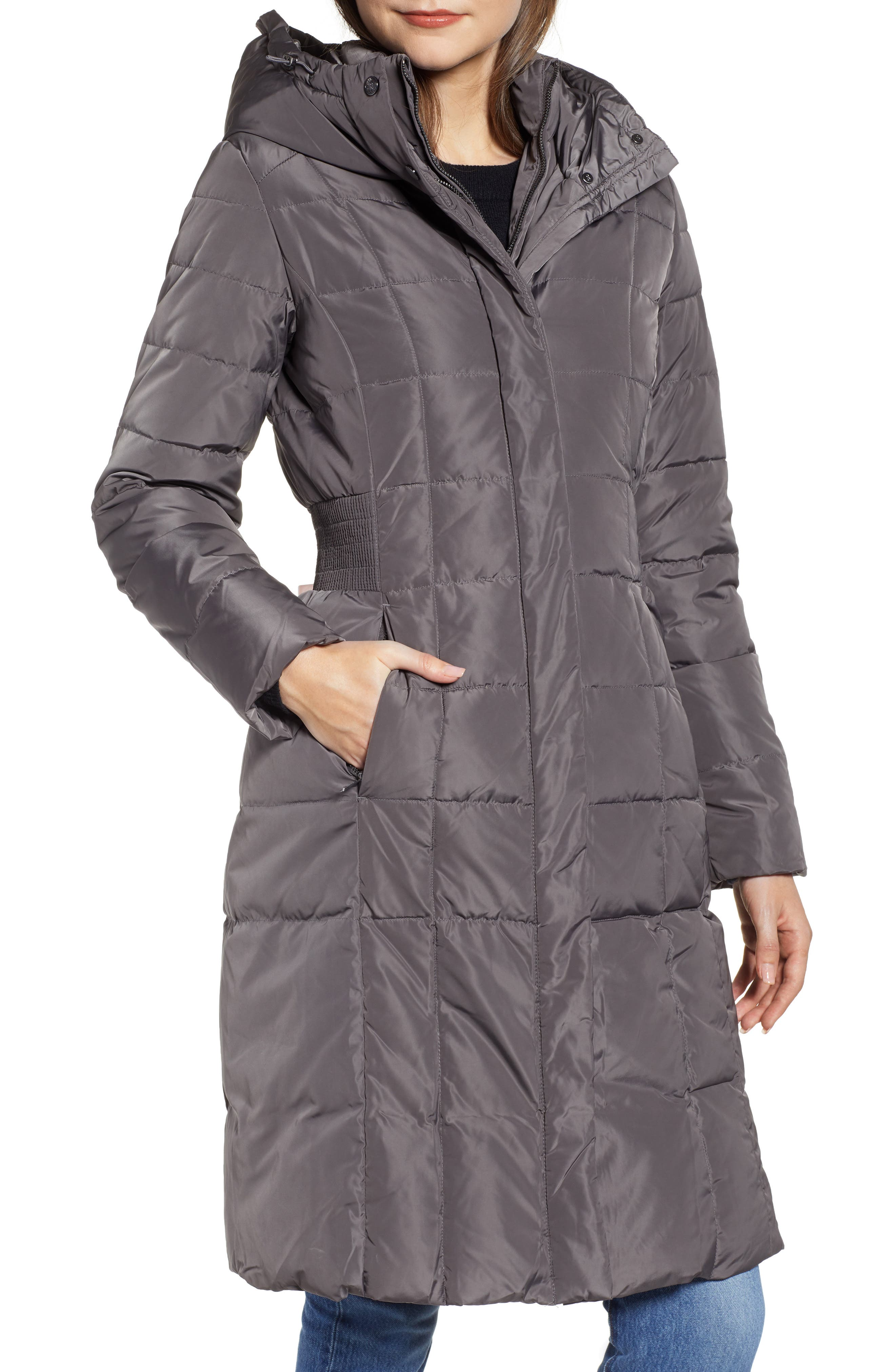 COLE HAAN SIGNATURE, Cole Haan Bib Insert Down & Feather Fill Coat, Alternate thumbnail 5, color, 024