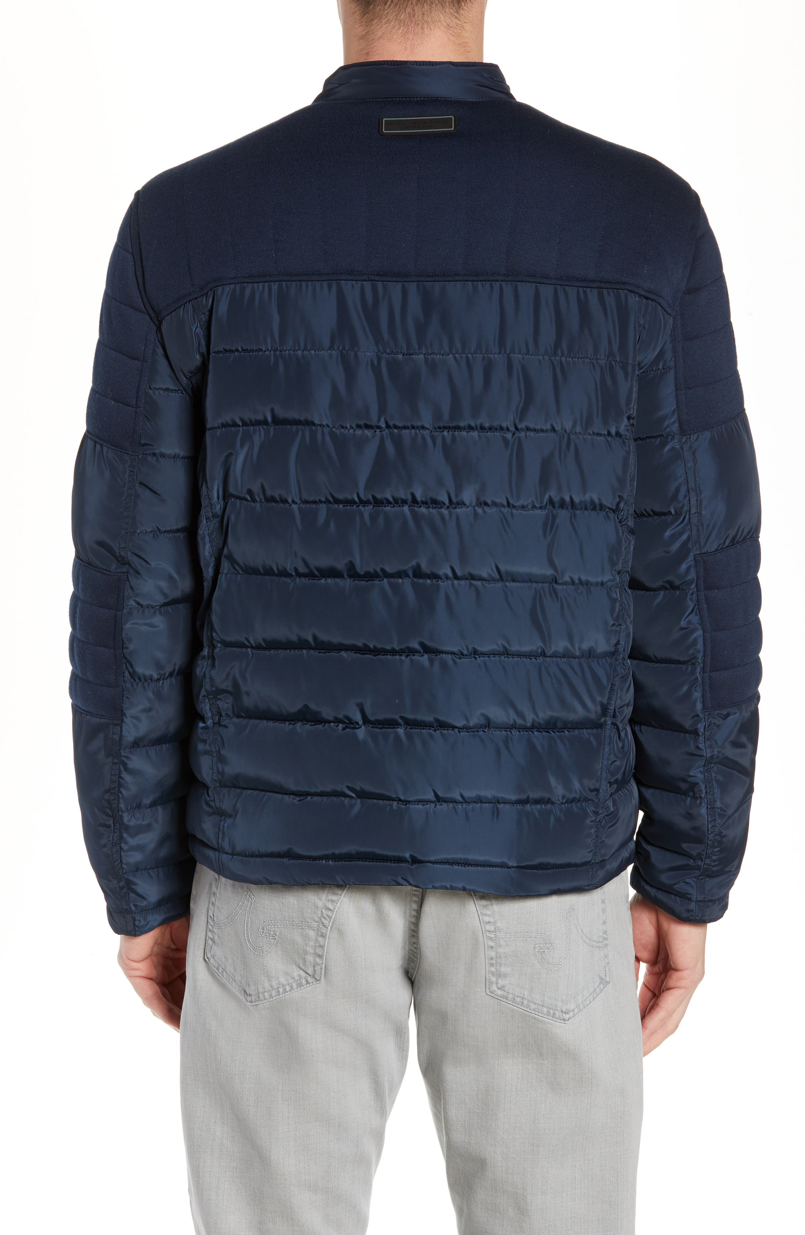 MARC NEW YORK, Wilsow Quilted Moto Jacket, Alternate thumbnail 2, color, NAVY