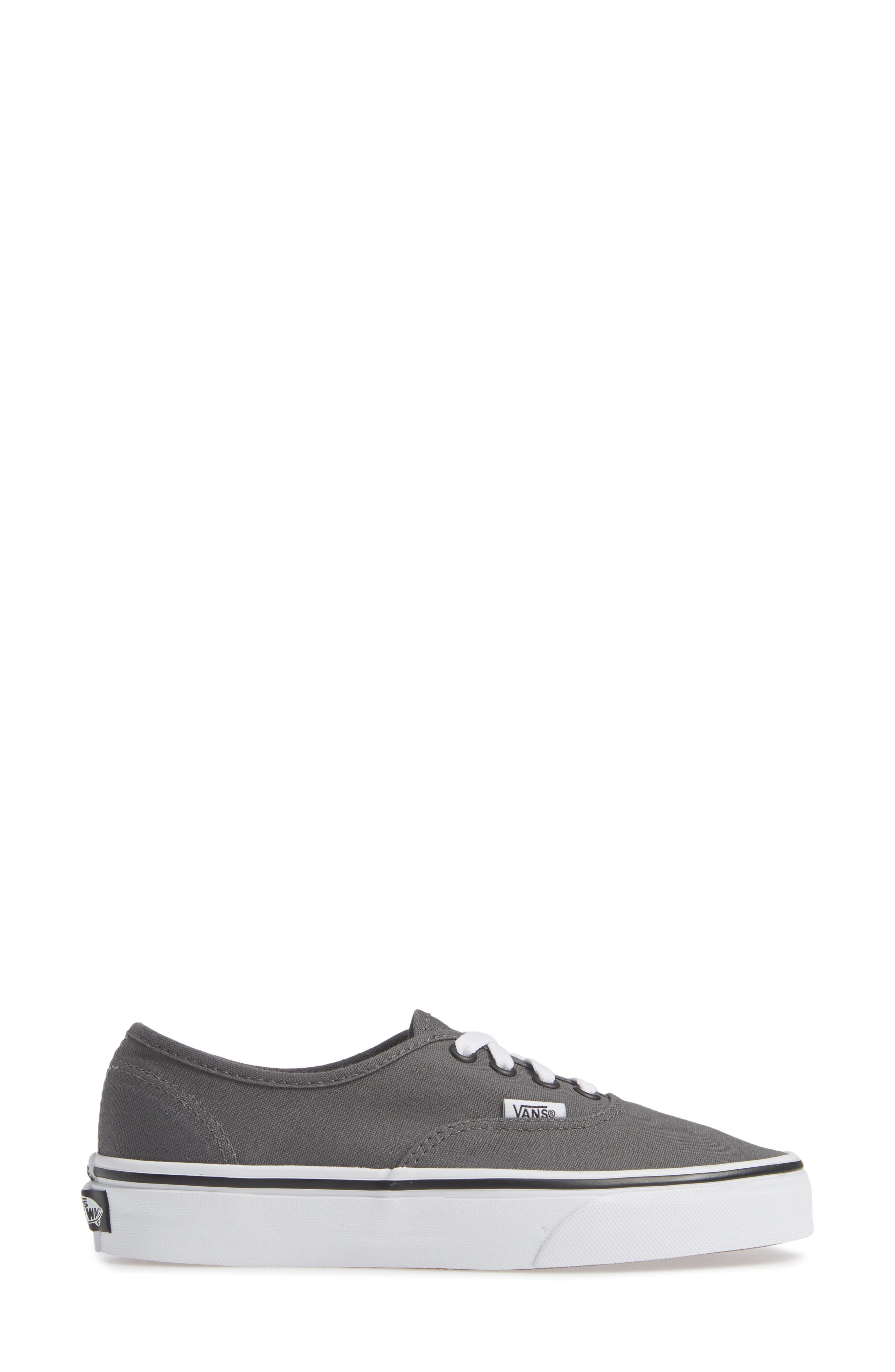 VANS, 'Authentic' Sneaker, Alternate thumbnail 4, color, PEWTER/BLACK