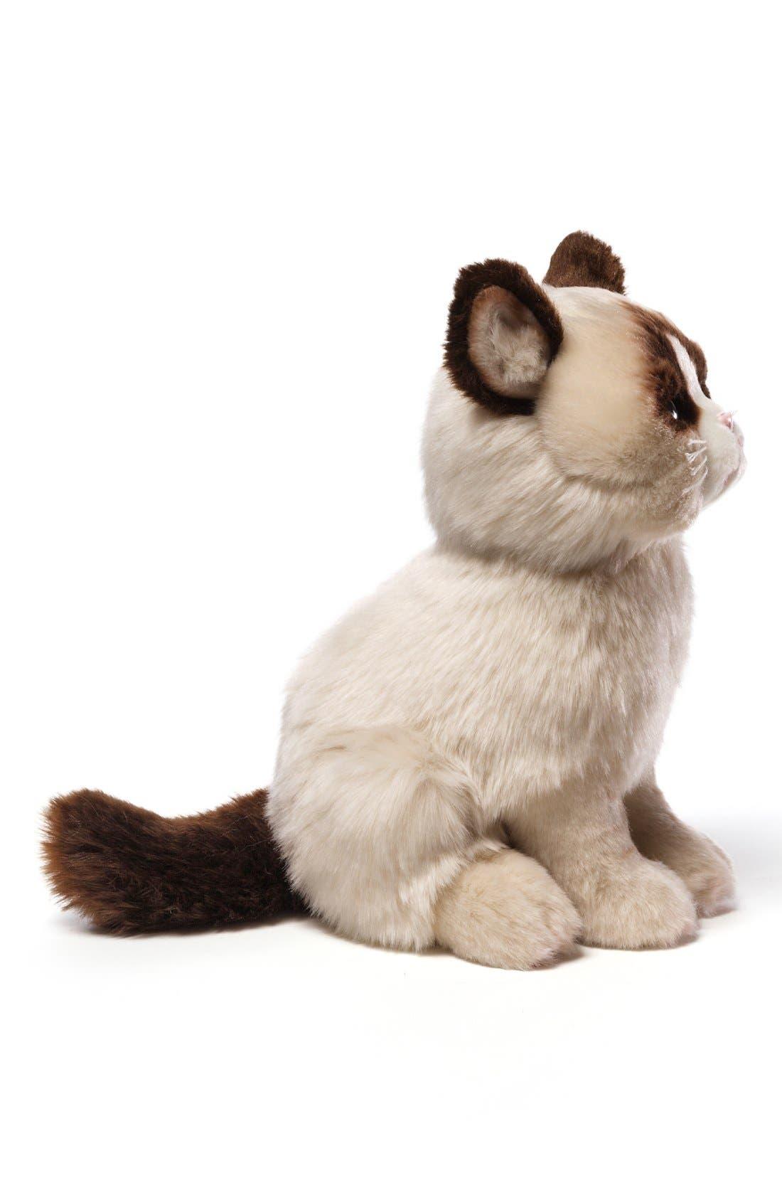 GUND, 'Grumpy Cat' Stuffed Animal, Alternate thumbnail 3, color, 000