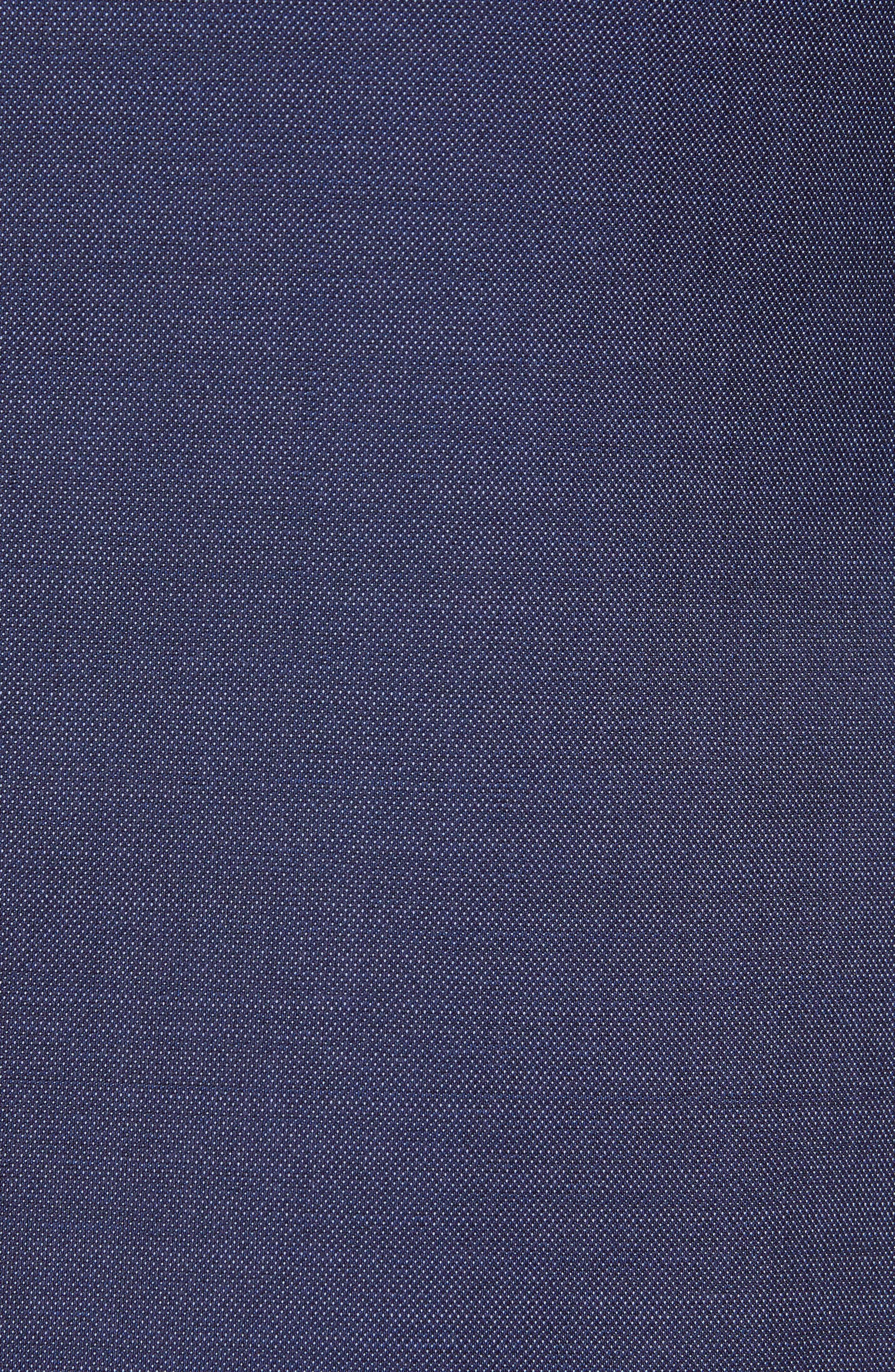 TED BAKER LONDON, Roger Slim Fit Solid Wool Suit, Alternate thumbnail 7, color, BLUE