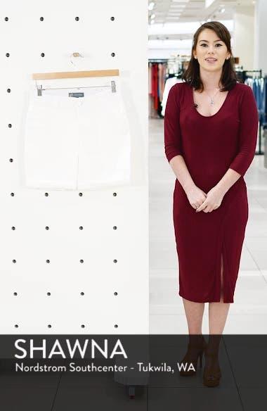 Ab-Solution White Denim Shorts, sales video thumbnail