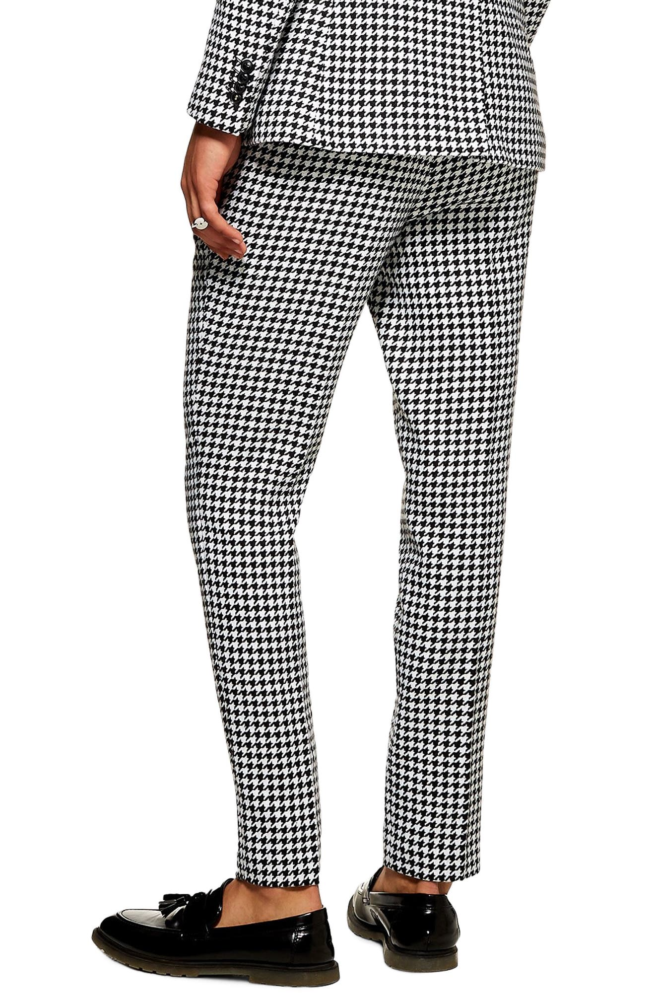 TOPMAN, Roe Skinny Fit Trousers, Alternate thumbnail 2, color, 001