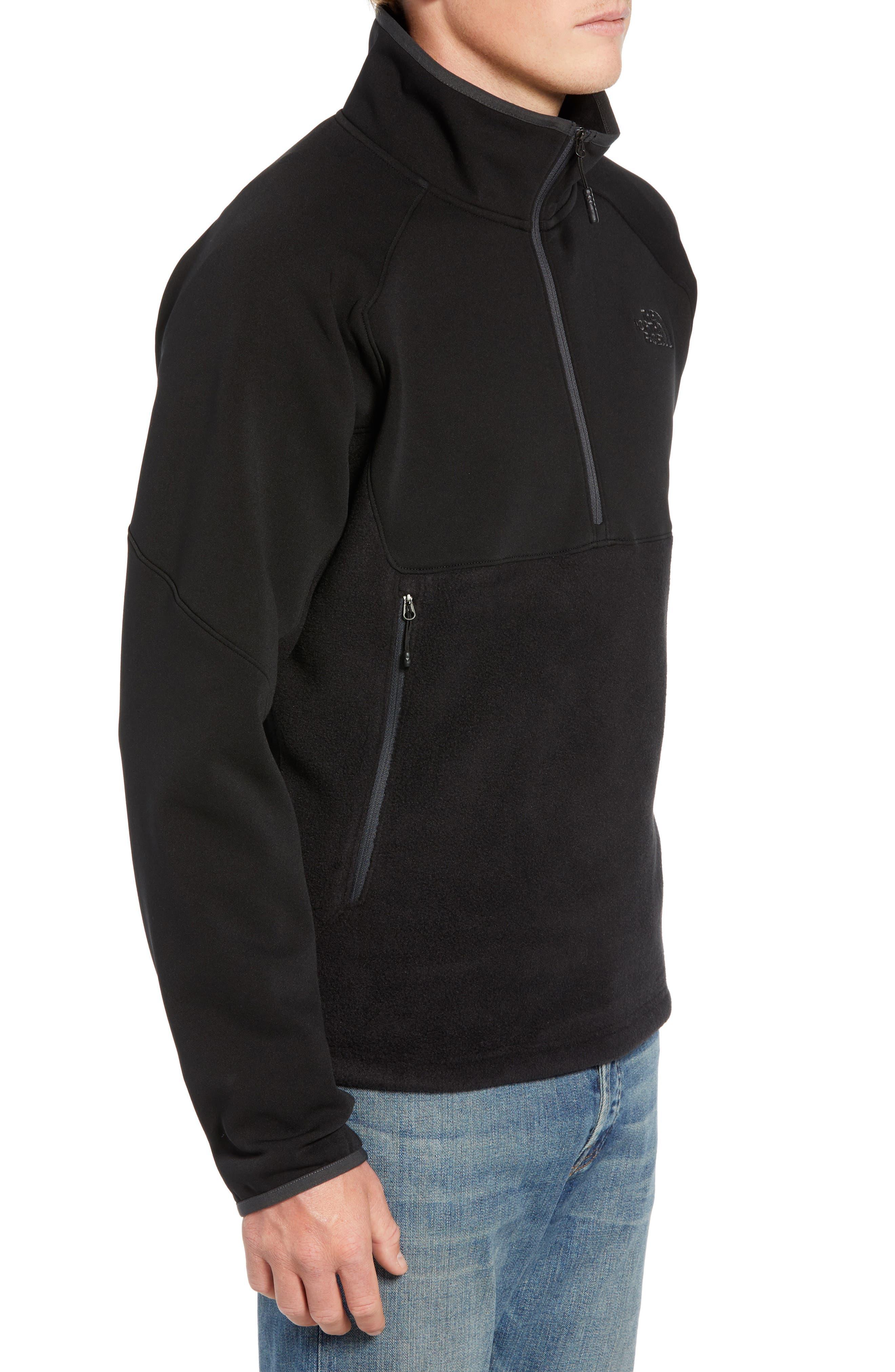THE NORTH FACE, Tolmiepeak Hybrid Half-Zip Pullover, Alternate thumbnail 4, color, 001