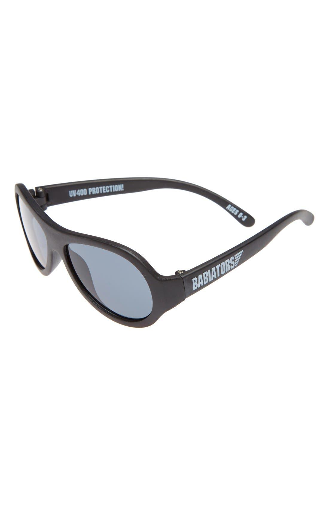 BABIATORS, 'Junior Babiators' Sunglasses, Main thumbnail 1, color, BLACK