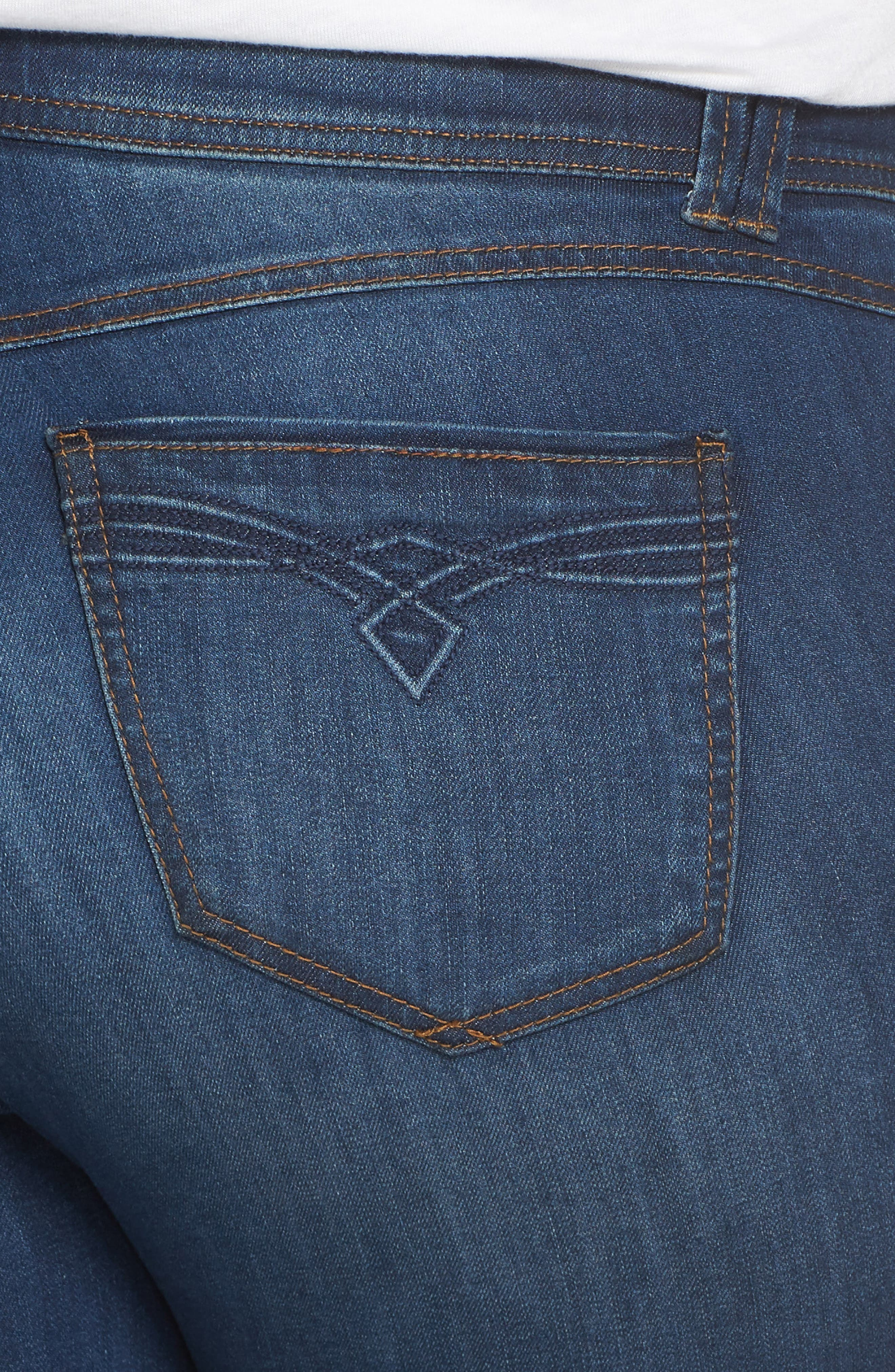 WIT & WISDOM, Ab-Solution Itty Bitty Bootcut Jeans, Alternate thumbnail 5, color, BLUE