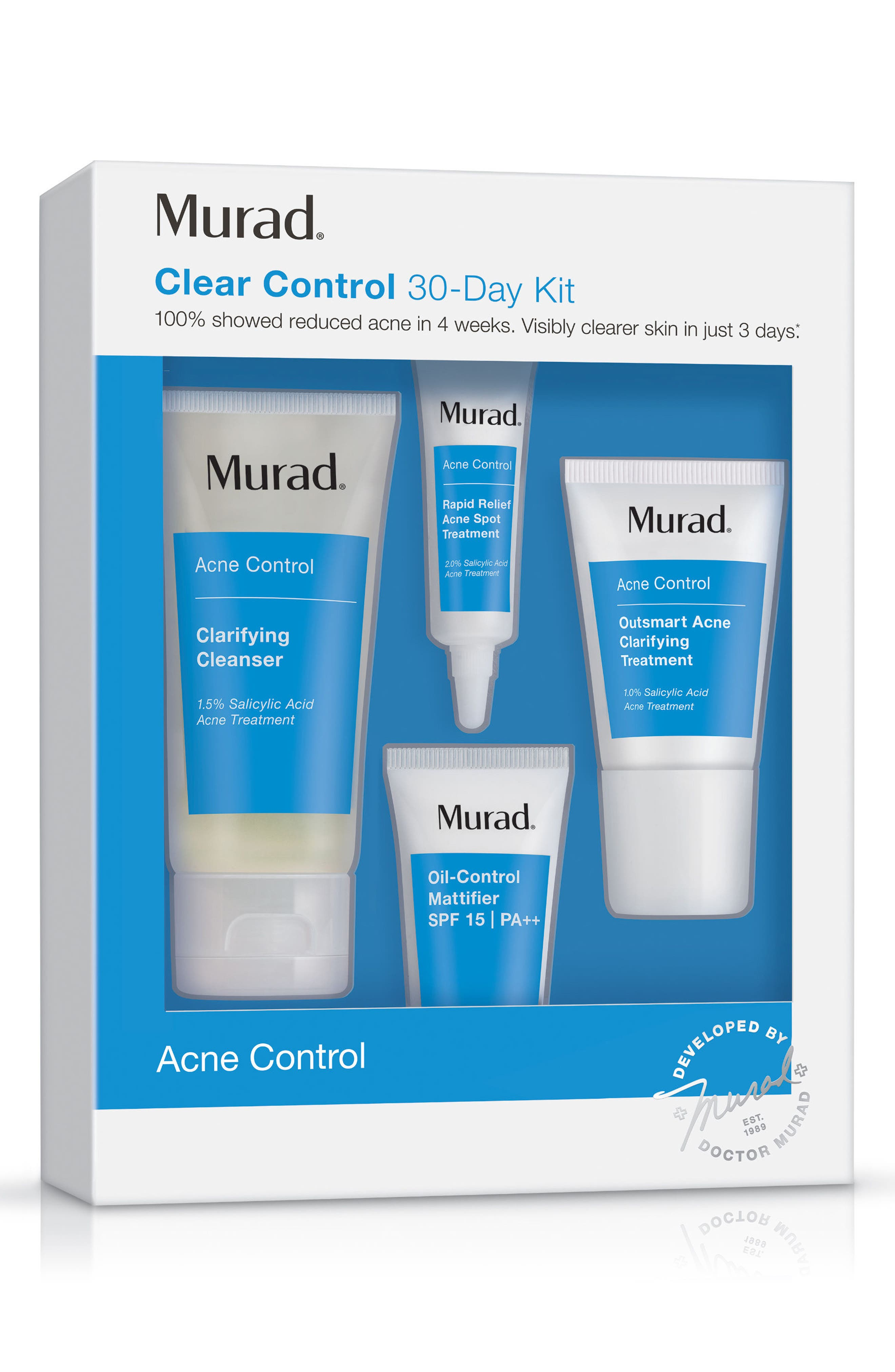 MURAD<SUP>®</SUP>, Clear Control 30-Day Kit, Alternate thumbnail 2, color, NO COLOR