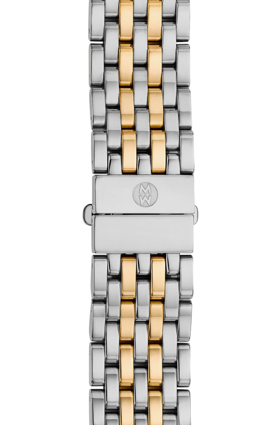 MICHELE, Serein 16 16mm Two-Tone Bracelet Watchband, Main thumbnail 1, color, SILVER/ GOLD