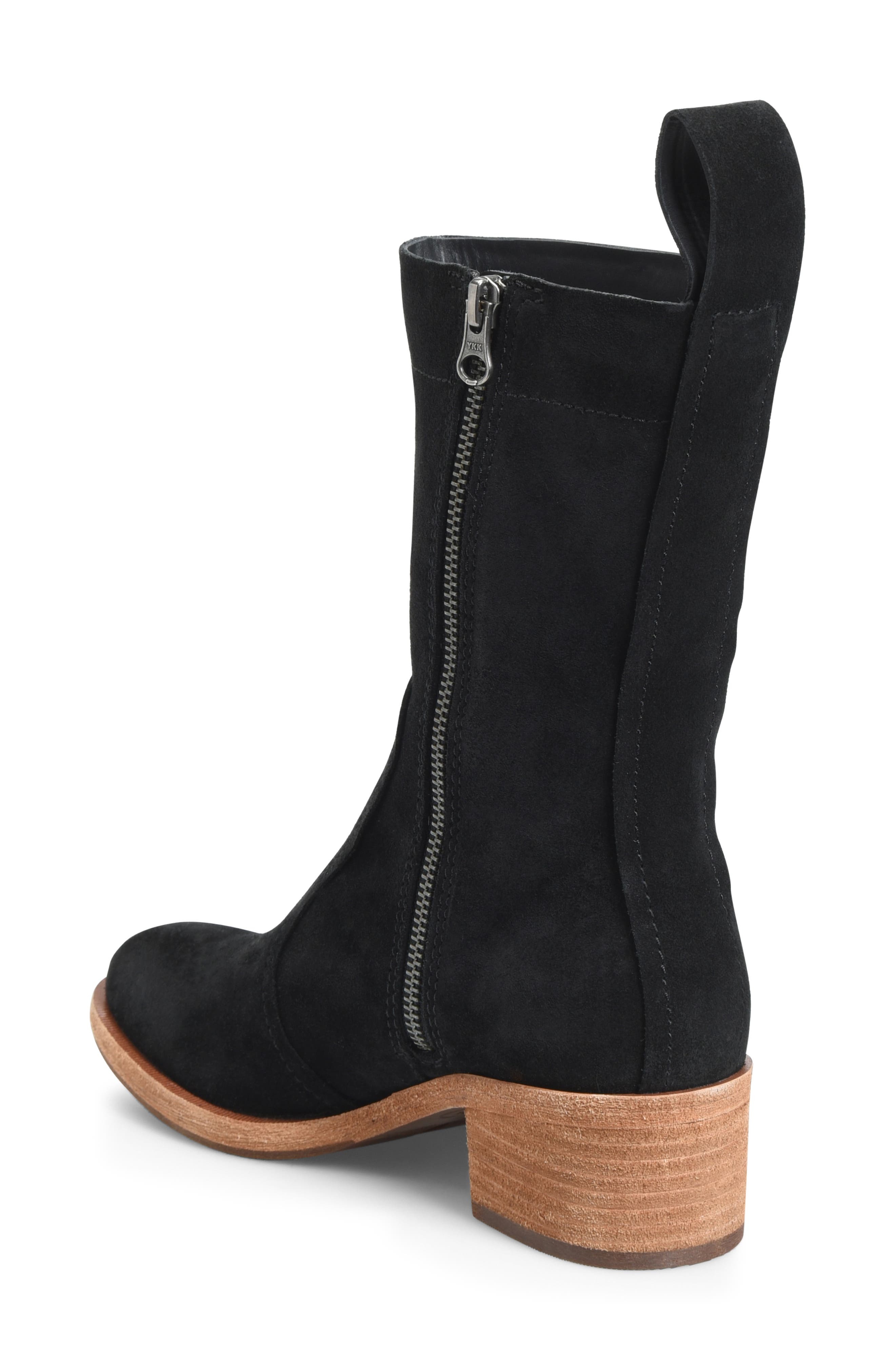 KORK-EASE<SUP>®</SUP>, Jewel Boot, Alternate thumbnail 2, color, BLACK SUEDE