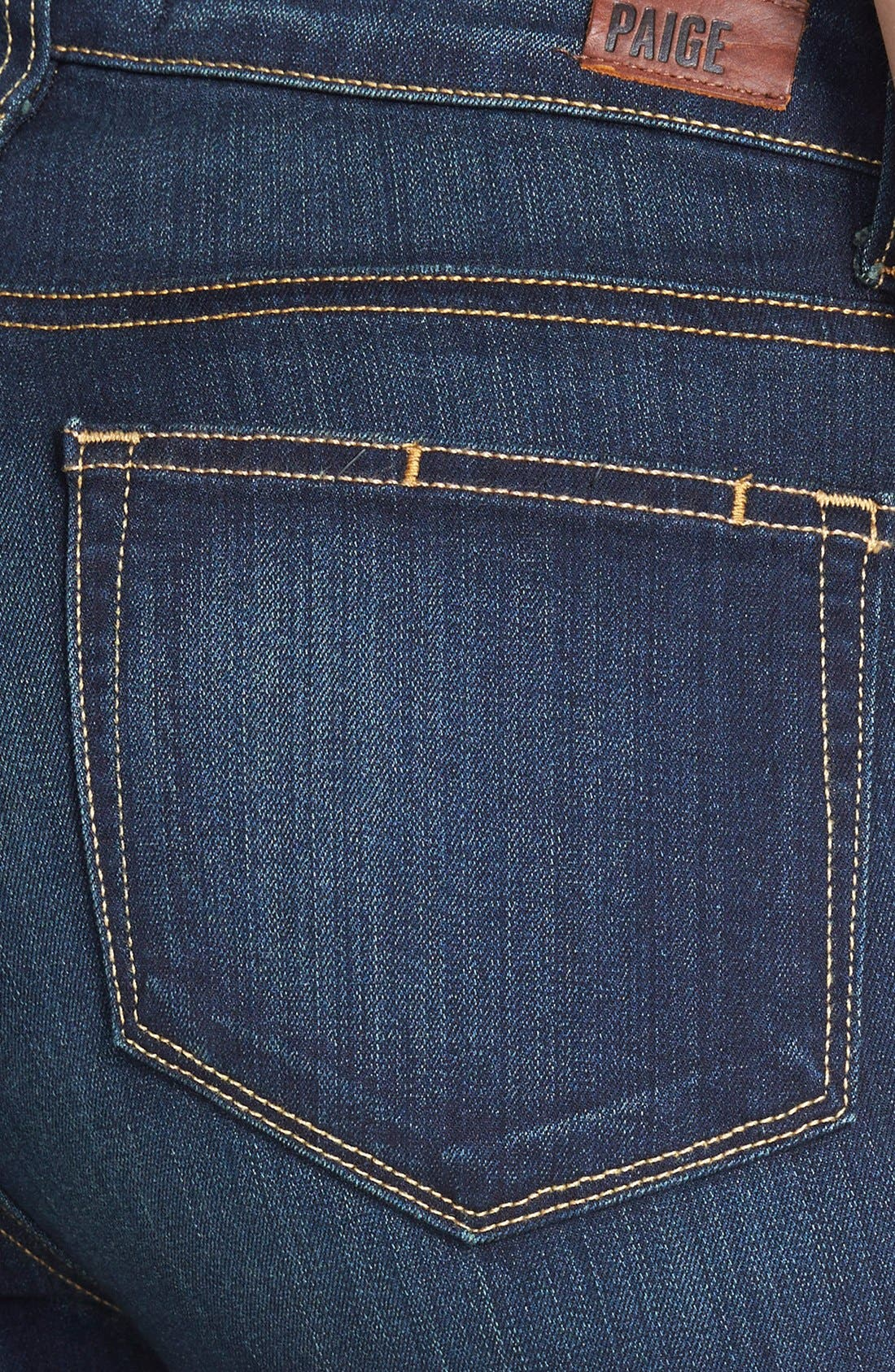 PAIGE, 'Transcend - Margot' High Rise Ultra Skinny Stretch Jeans, Alternate thumbnail 3, color, 400