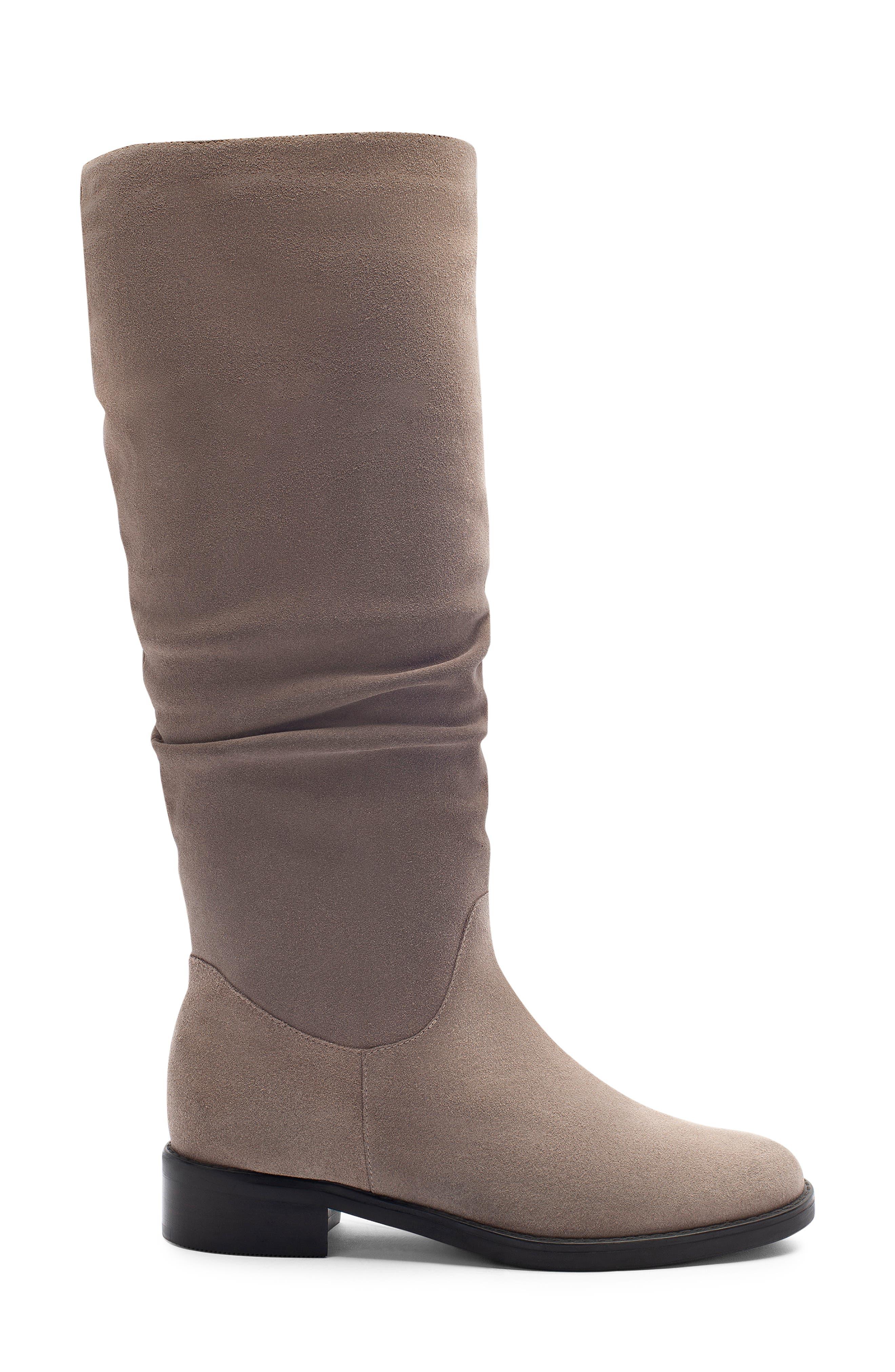 BLONDO, Erika Waterproof Knee High Boot, Alternate thumbnail 3, color, DARK TAUPE SUEDE
