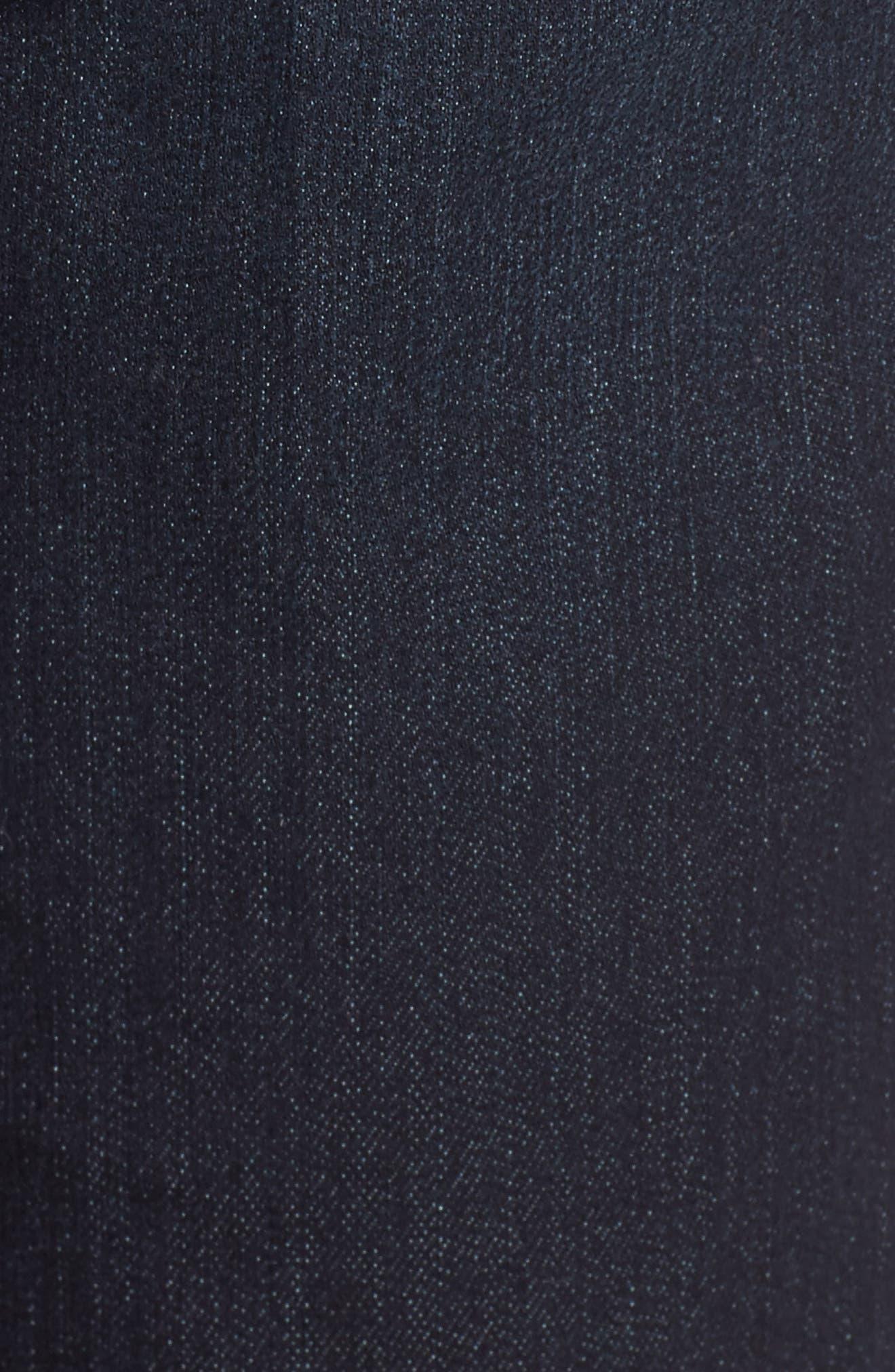 WIT & WISDOM, Ab-solution Denim Bermuda Shorts, Alternate thumbnail 6, color, INDIGO
