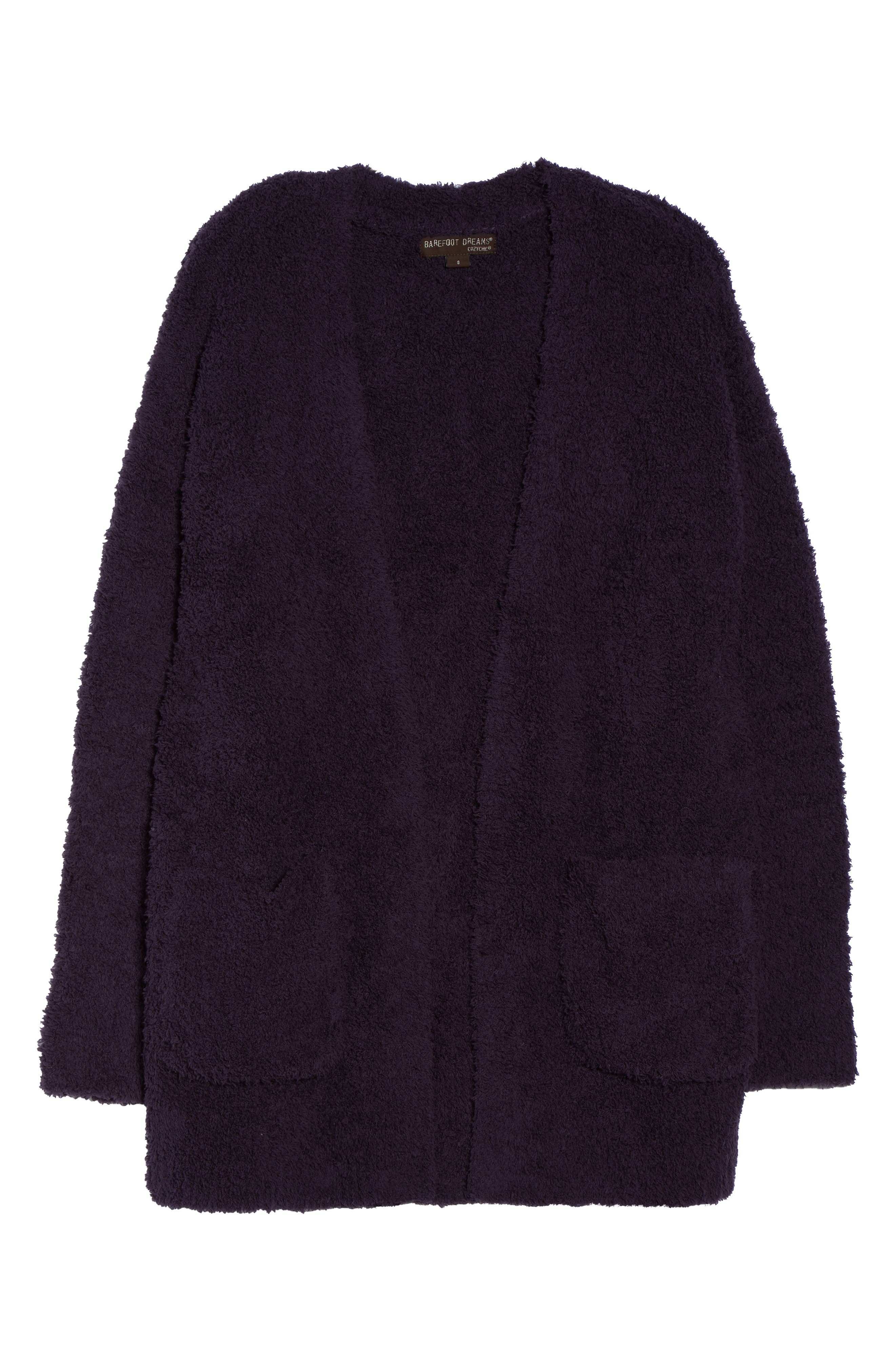 BAREFOOT DREAMS<SUP>®</SUP>, CozyChic<sup>®</sup> Cardigan, Alternate thumbnail 6, color, AMETHYST
