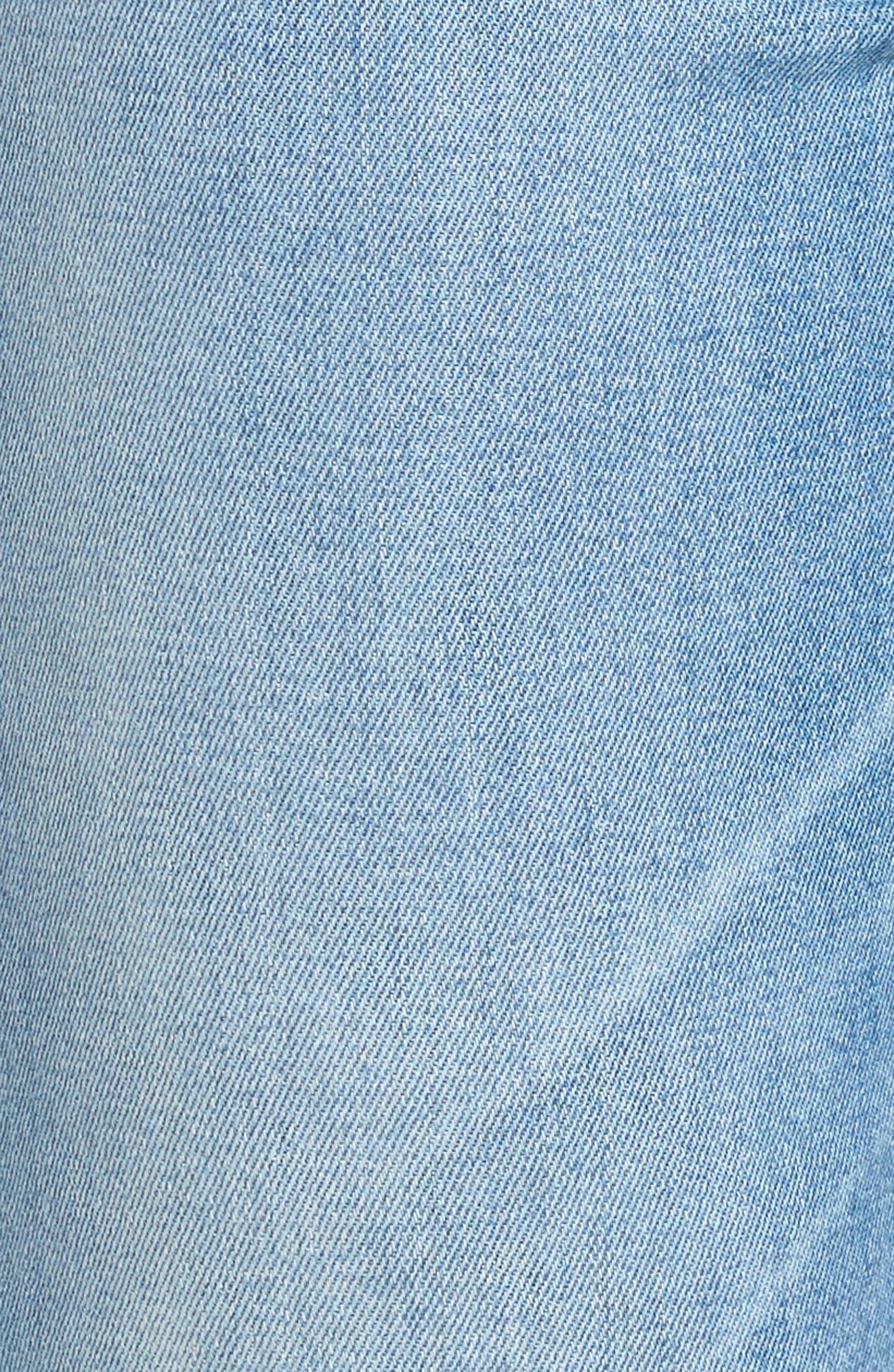 AG, Sophia Raw Hem High Waist Ankle Skinny Jeans, Alternate thumbnail 6, color, 467