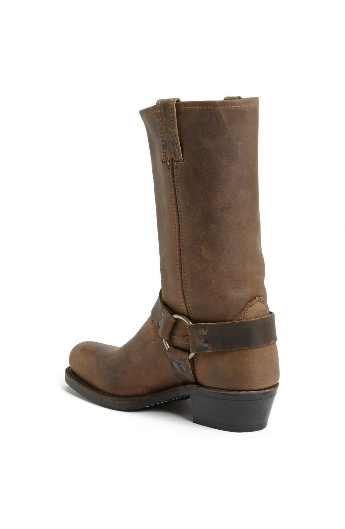 FRYE, 'Harness 12R' Leather Boot, Alternate thumbnail 4, color, TAN