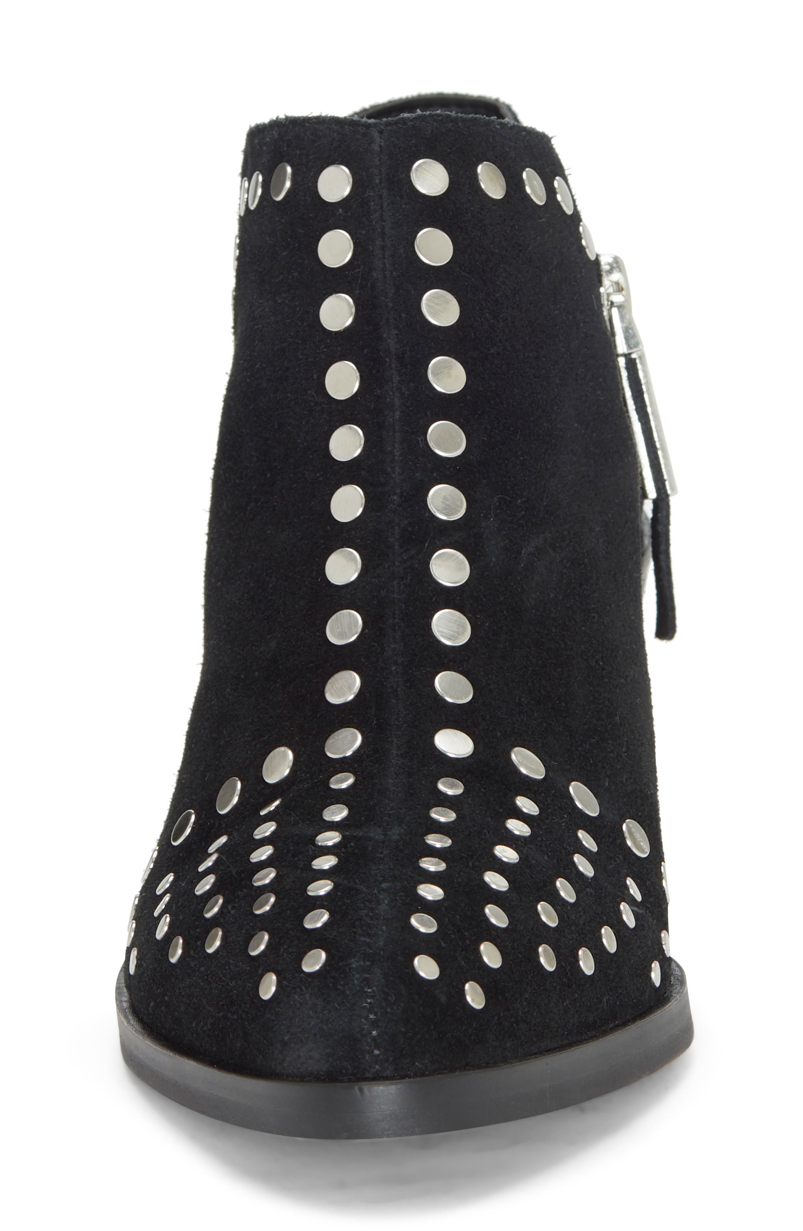 1.STATE, Loka Studded Bootie, Alternate thumbnail 4, color, BLACK SUEDE