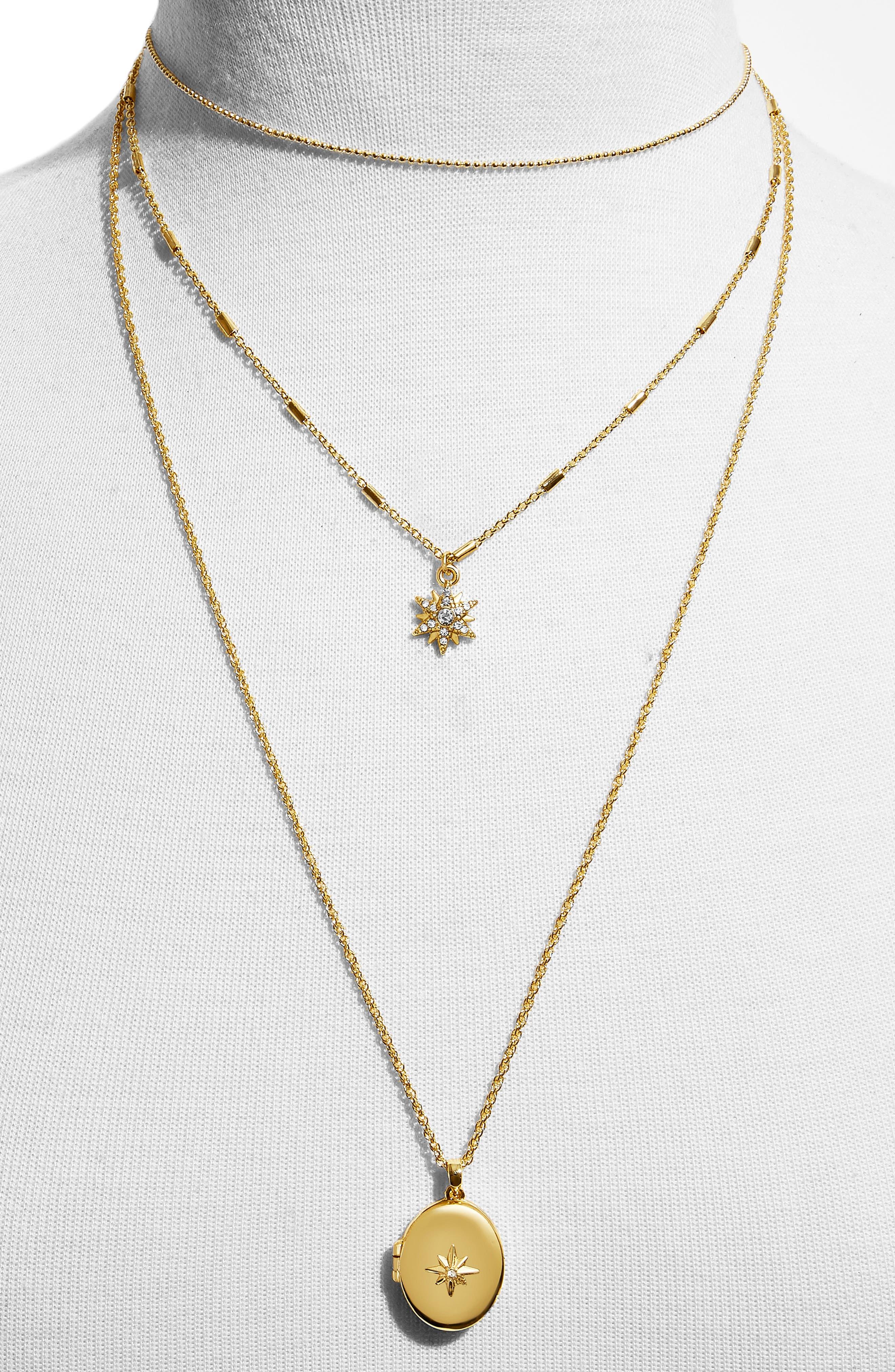BAUBLEBAR, Melisandra Layered Pendant Necklace, Alternate thumbnail 2, color, GOLD