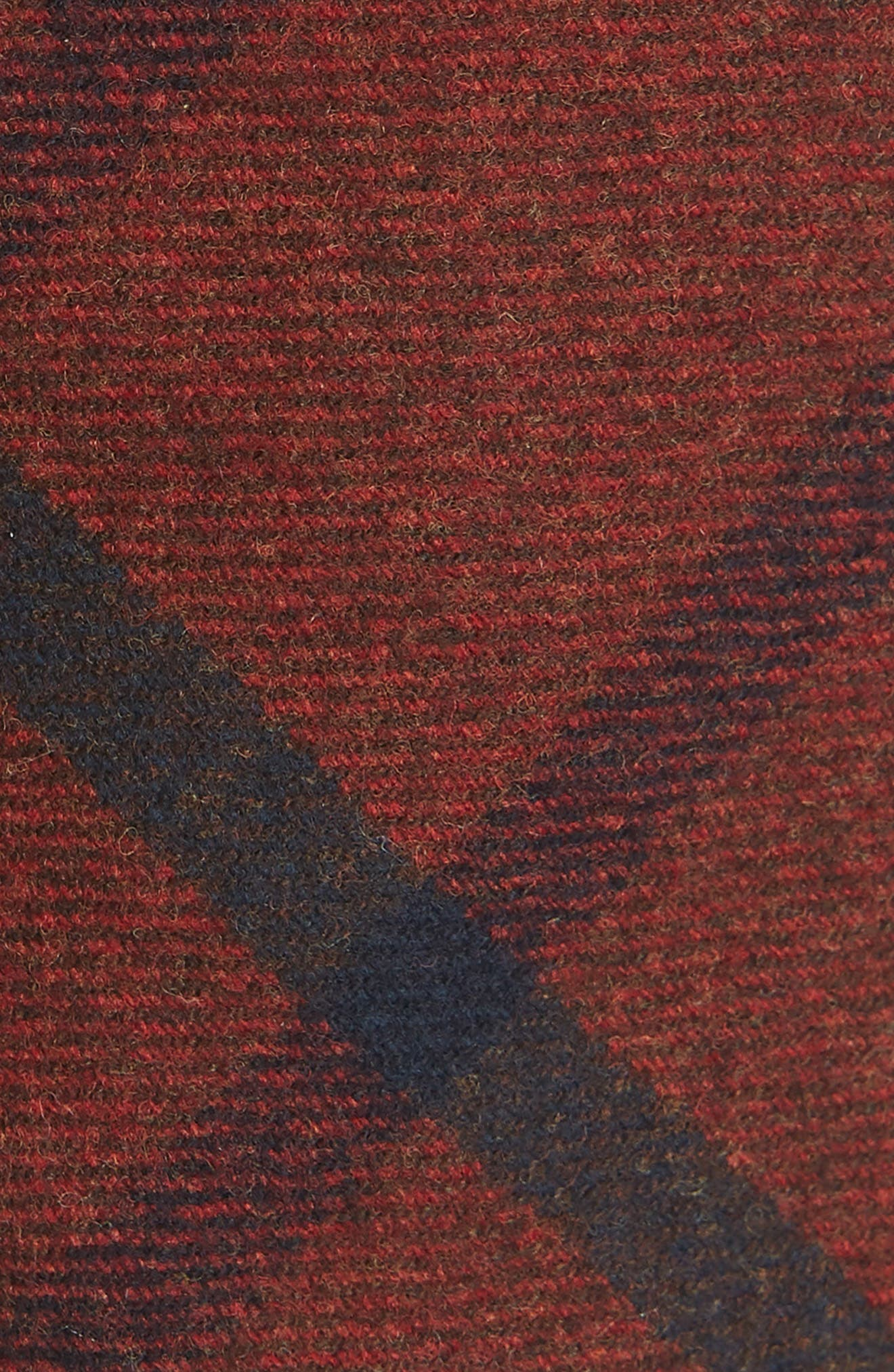 THE TIE BAR, Mosso Plaid Wool Tie, Alternate thumbnail 2, color, RED