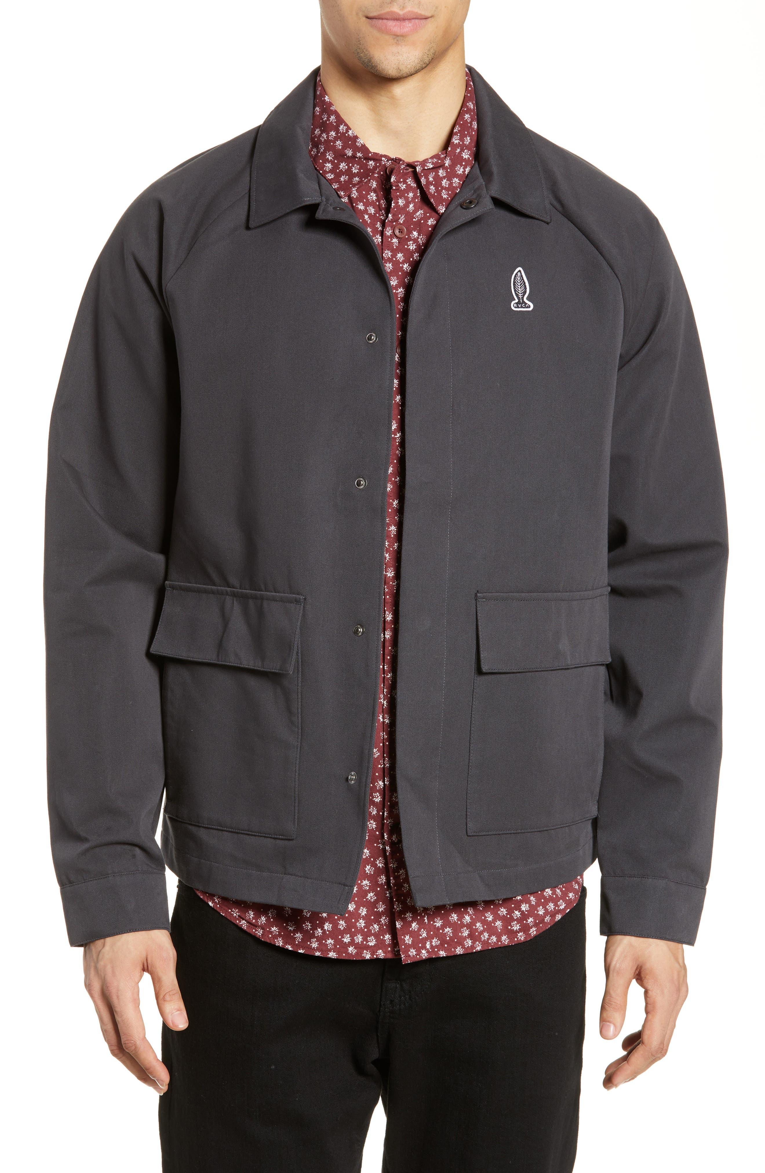 RVCA, Gerrard Jacket, Main thumbnail 1, color, PIRATE BLACK