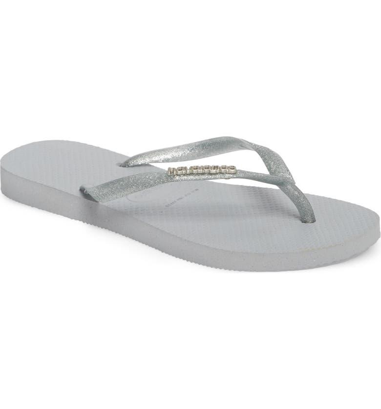 03944ef844f9 Havaianas  Slim Logo  Metallic Flip Flop (Women)