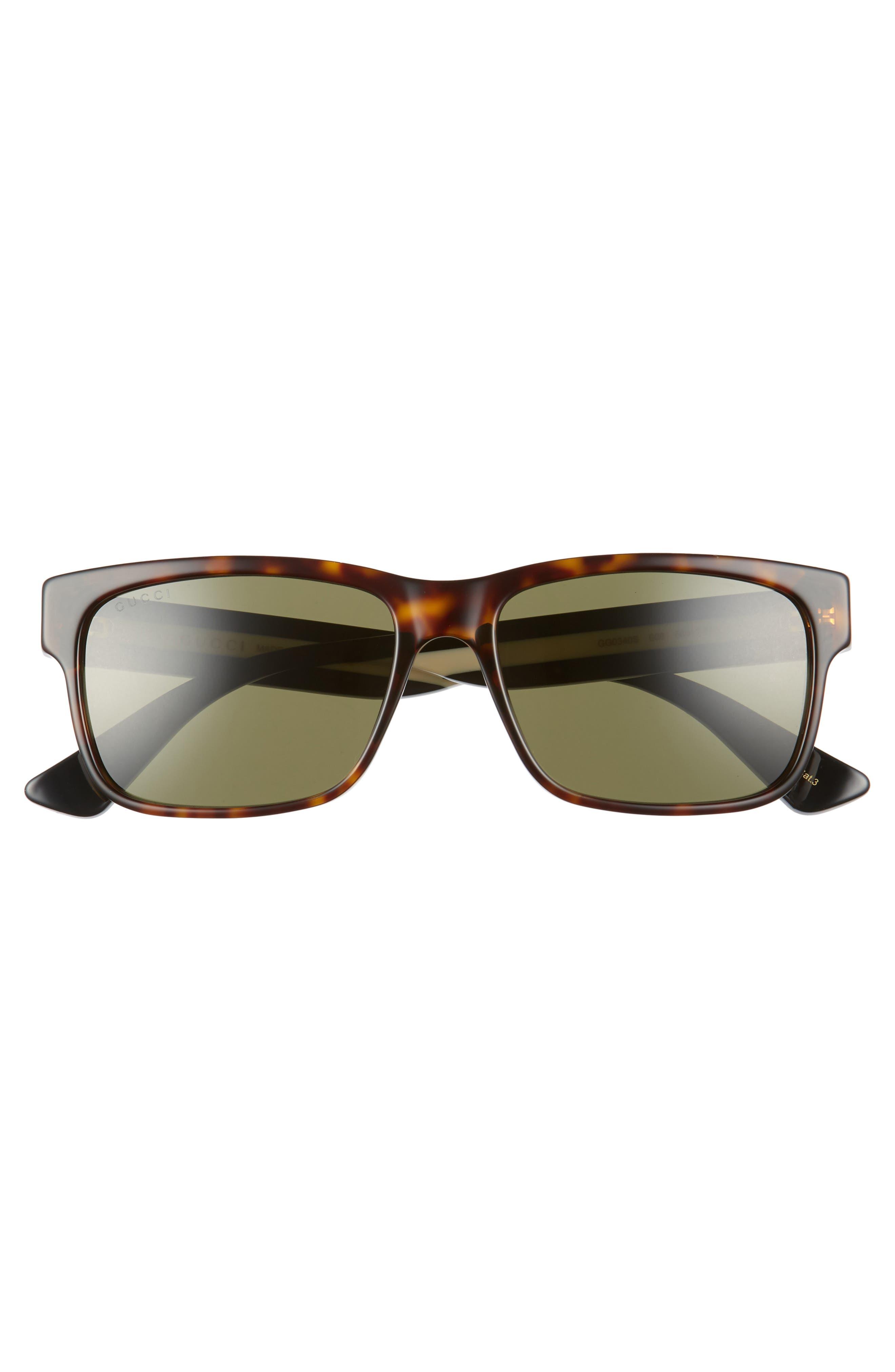 GUCCI, Sylvie 58mm Sunglasses, Alternate thumbnail 2, color, BLACK MULTICOLOR