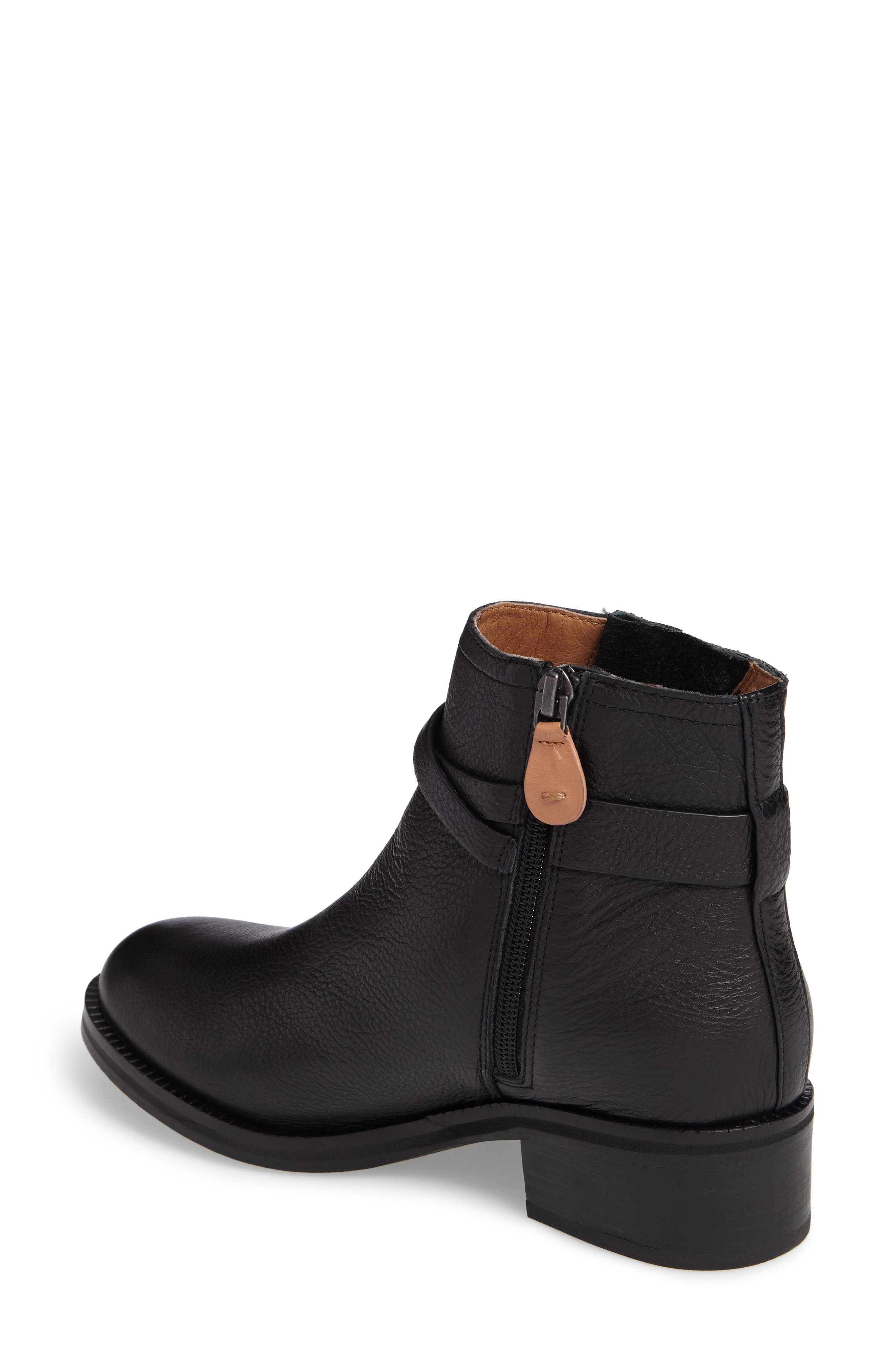 GENTLE SOULS BY KENNETH COLE, Percy Bootie, Alternate thumbnail 2, color, BLACK LEATHER