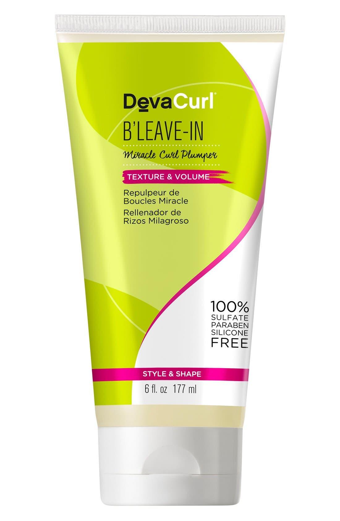 DEVACURL B'Leave-In Miracle Curl Plumper, Main, color, NO COLOR
