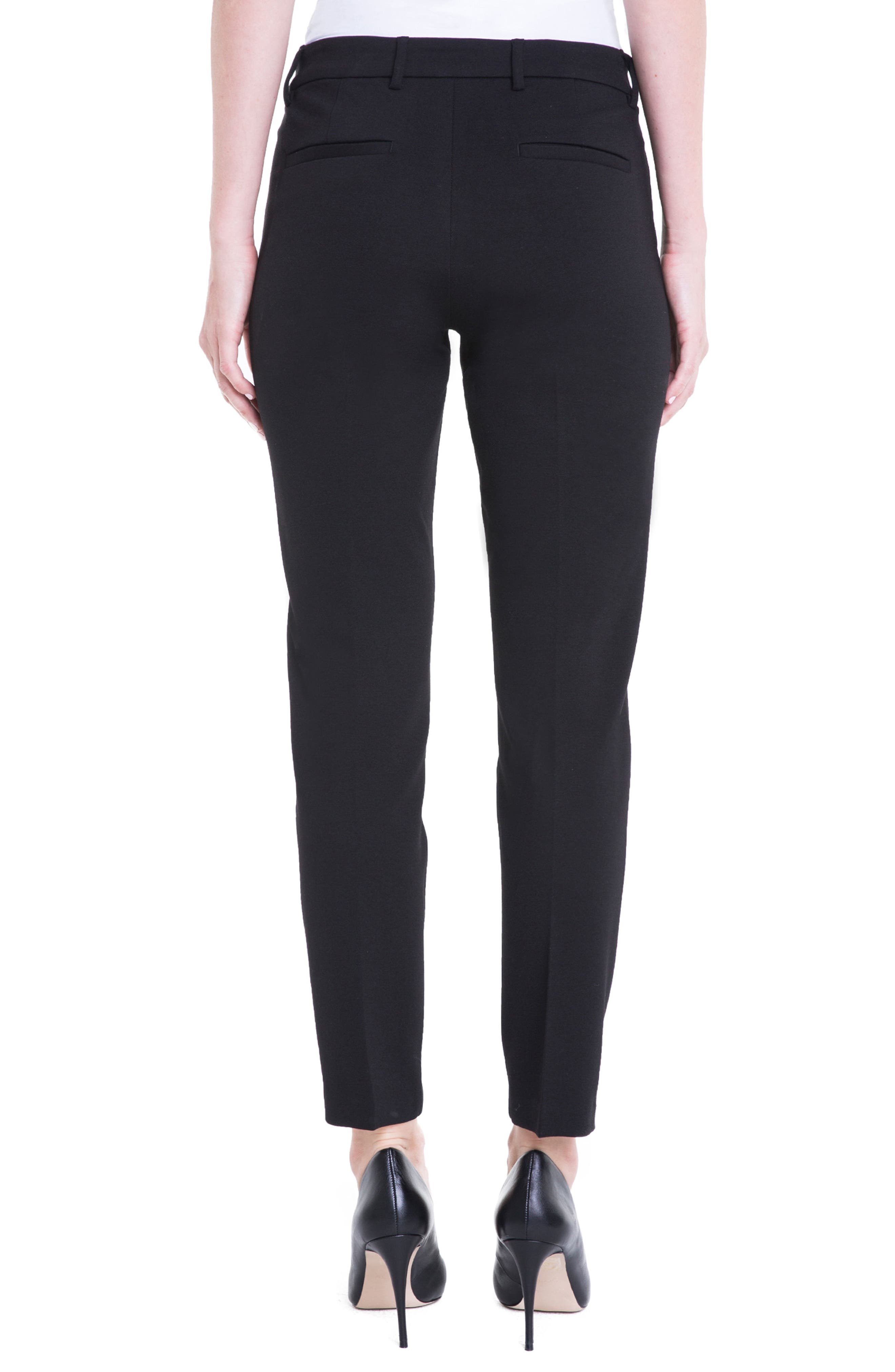 LIVERPOOL, Kelsey Knit Trousers, Alternate thumbnail 2, color, BLACK
