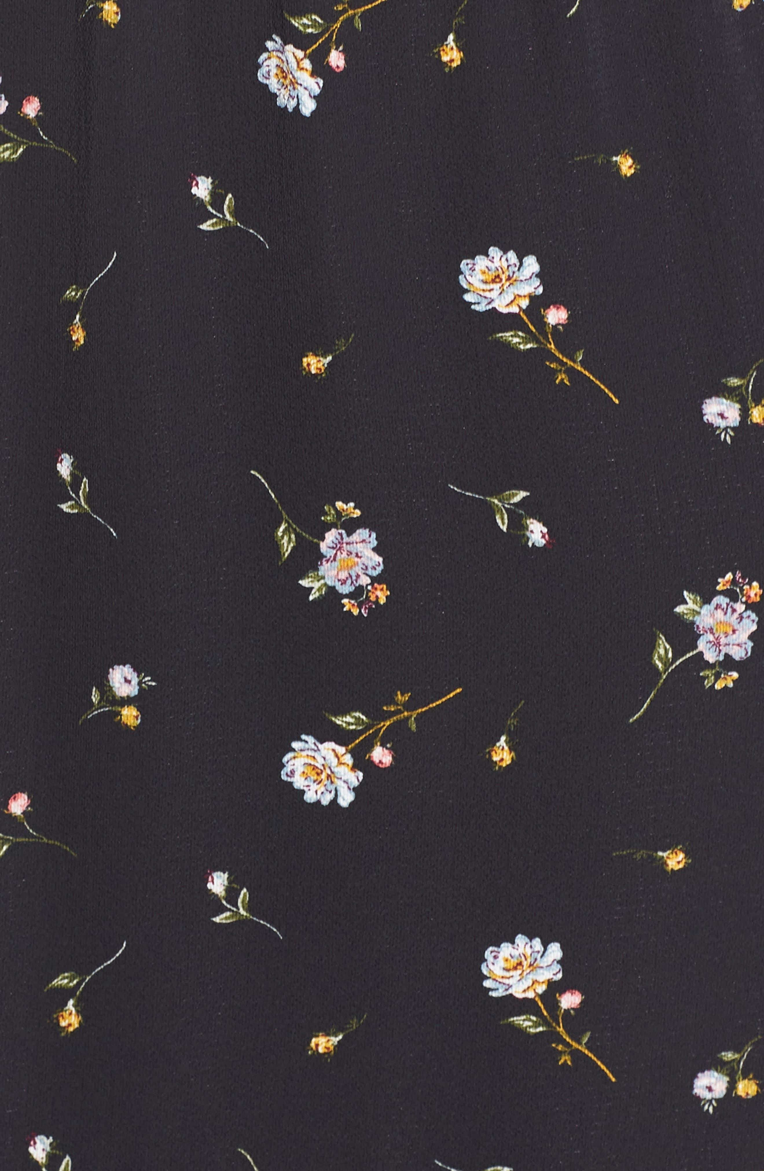 ALI & JAY, Cloud Steps Floral Midi Dress, Alternate thumbnail 6, color, WILD FLOWERS