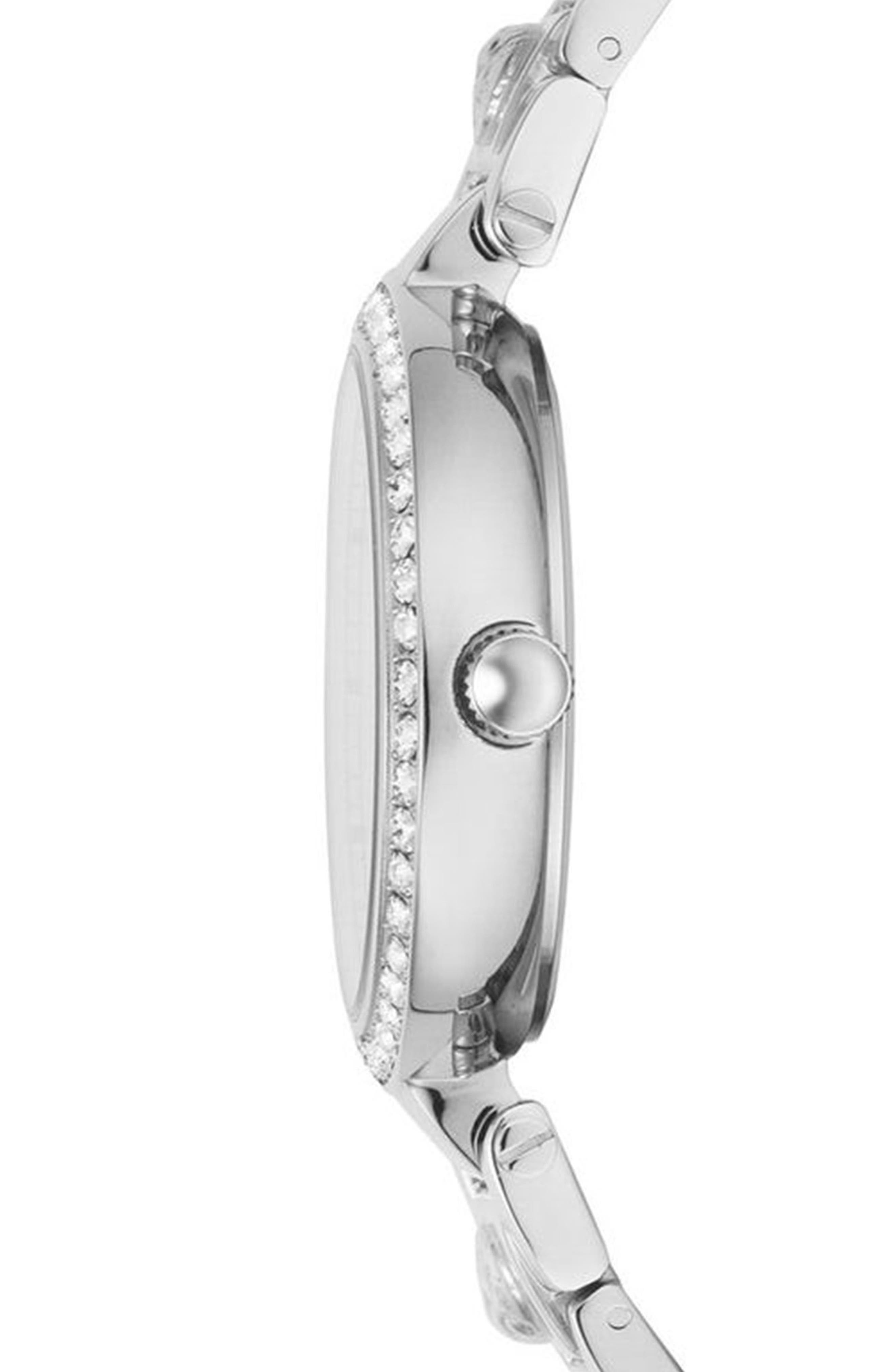 VERSUS VERSACE, Camden Market Multifunction Bracelet Watch, 38mm, Alternate thumbnail 2, color, SILVER