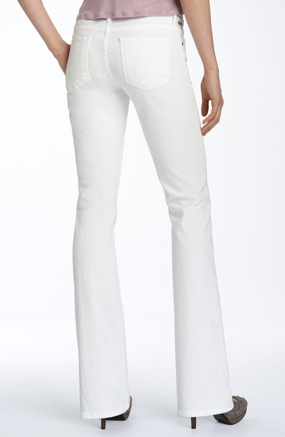 CITIZENS OF HUMANITY, 'Amber' Mid Rise Bootcut Stretch Jeans, Main thumbnail 1, color, 100