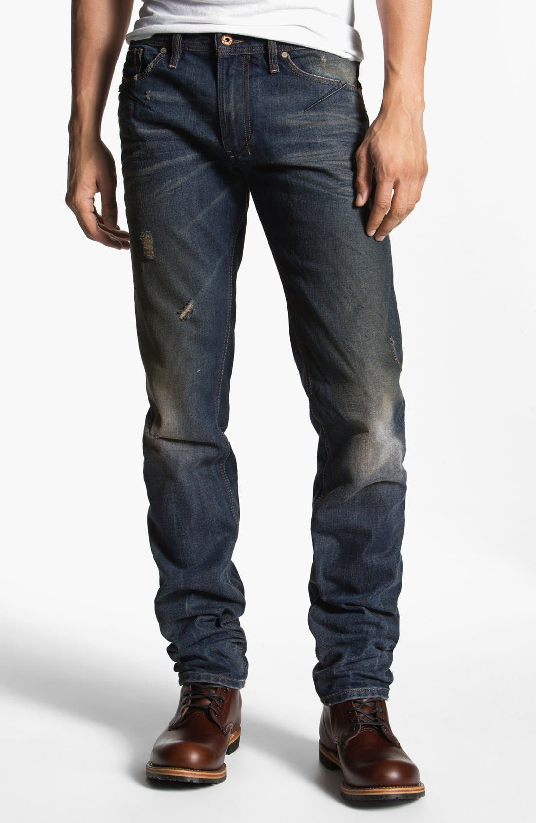 DIESEL<SUP>®</SUP>, 'Shioner' Skinny Fit Jeans, Alternate thumbnail 2, color, 400