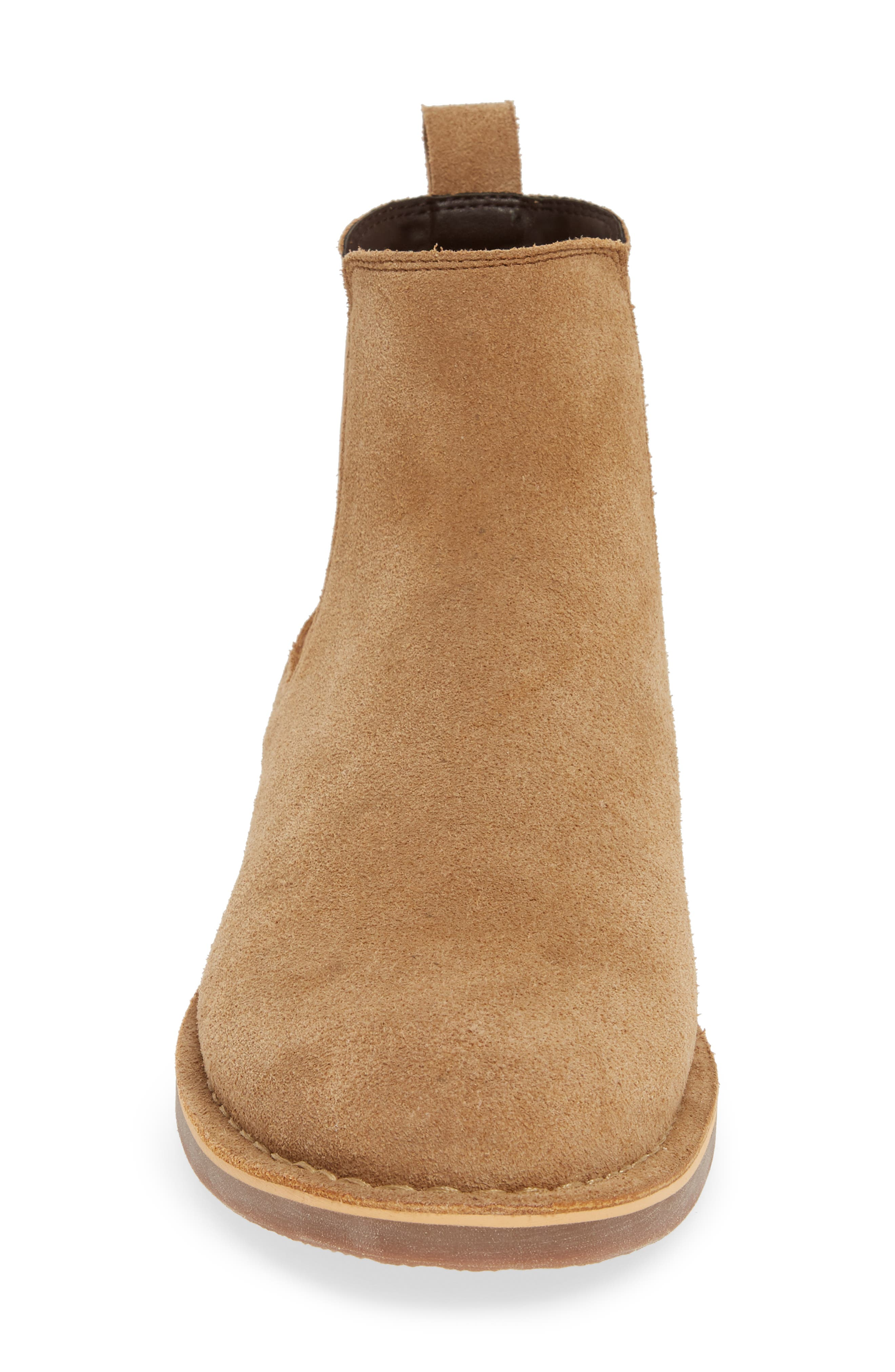 THE RAIL, Payson Chelsea Boot, Alternate thumbnail 4, color, SAND SUEDE