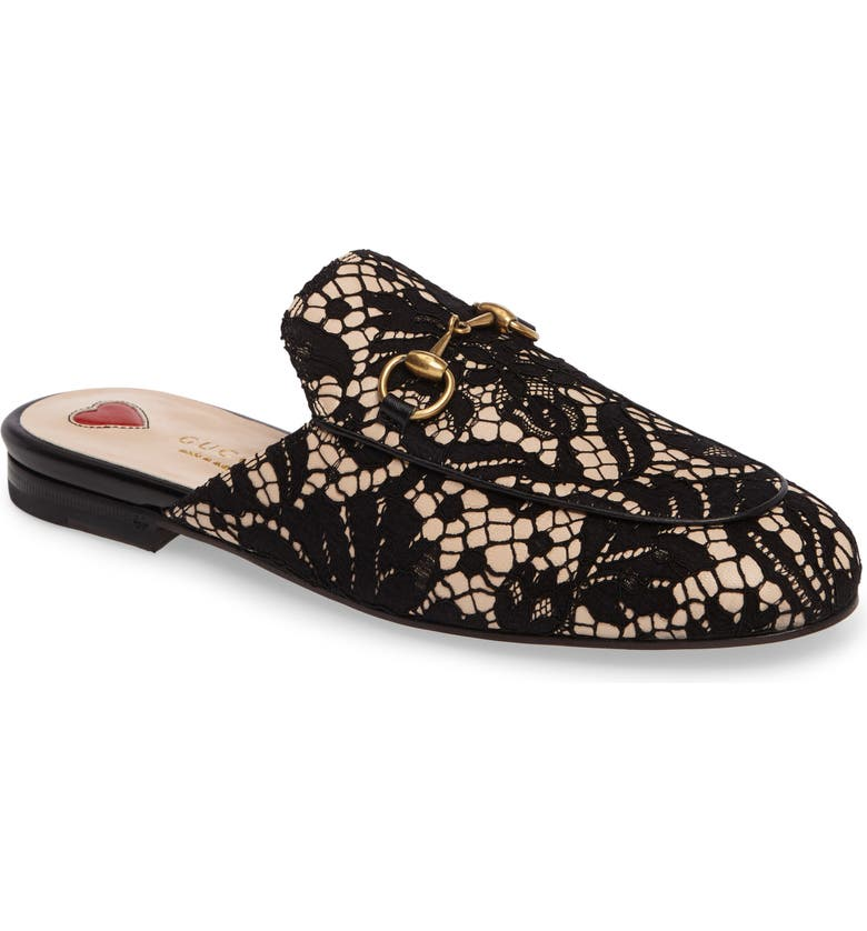 621a77a9fbf Gucci Lace Princetown Loafer Mule (Women)