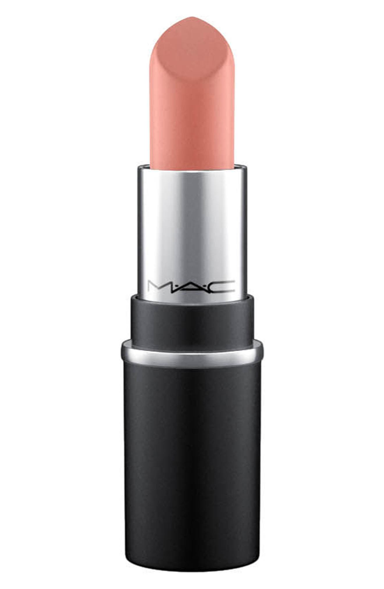 MAC COSMETICS, MAC Mini MAC Lipstick, Main thumbnail 1, color, VELVET TEDDY M