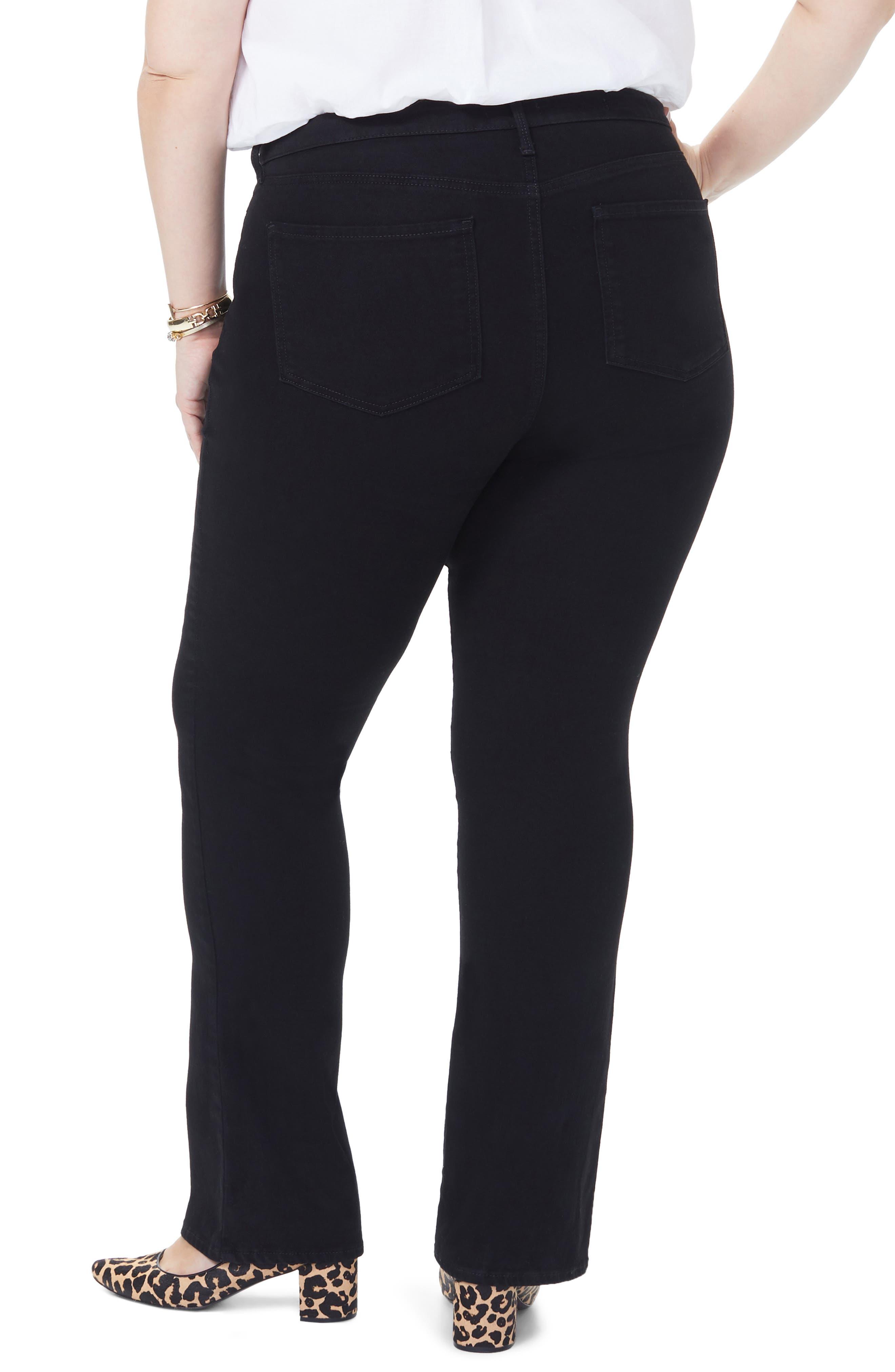 NYDJ, Barbara High Rise Bootcut Jeans, Alternate thumbnail 2, color, BLACK