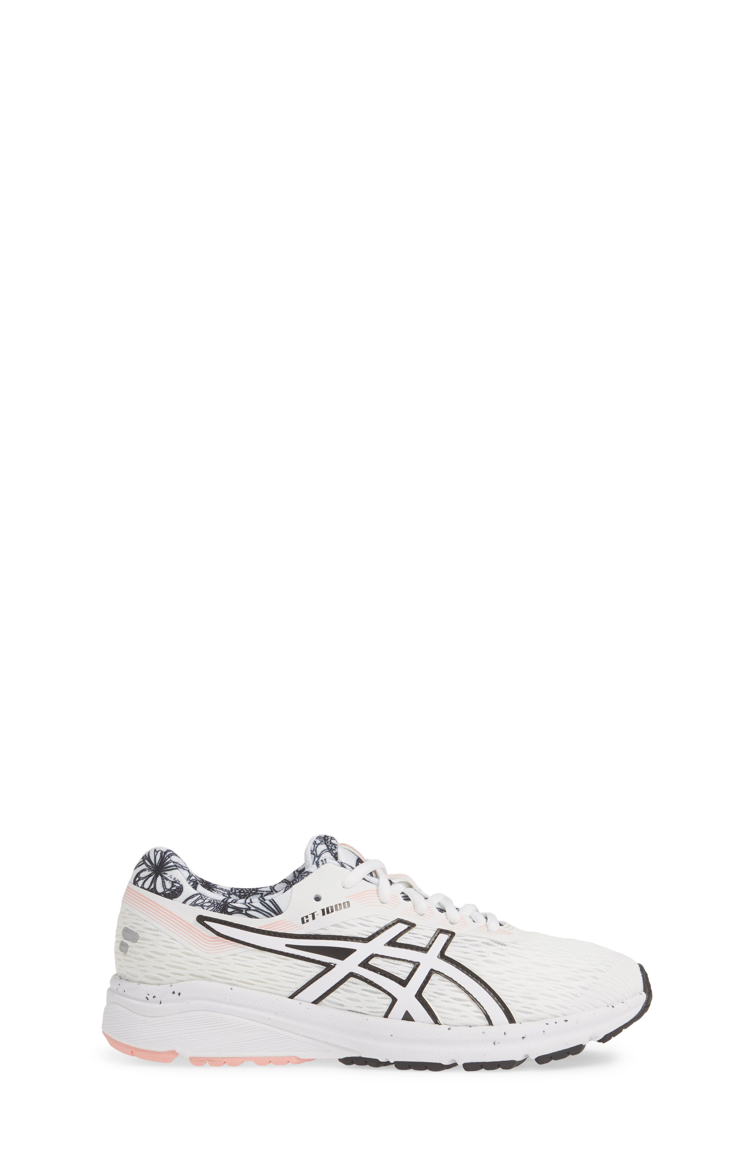 ASICS<SUP>®</SUP>, GT 1000 7 Running Shoe, Alternate thumbnail 3, color, WHITE/ WHITE