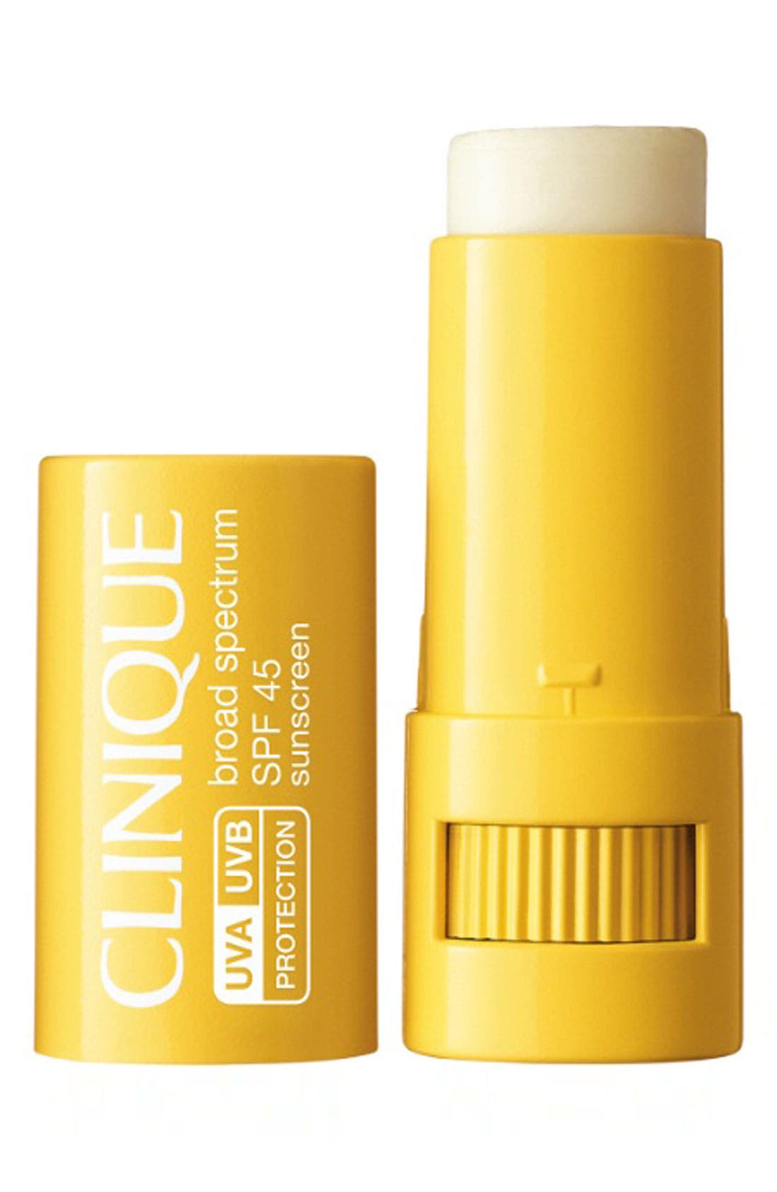 CLINIQUE, Sun Broad Spectrum SPF 45 Advanced Protection Stick, Main thumbnail 1, color, NO COLOR