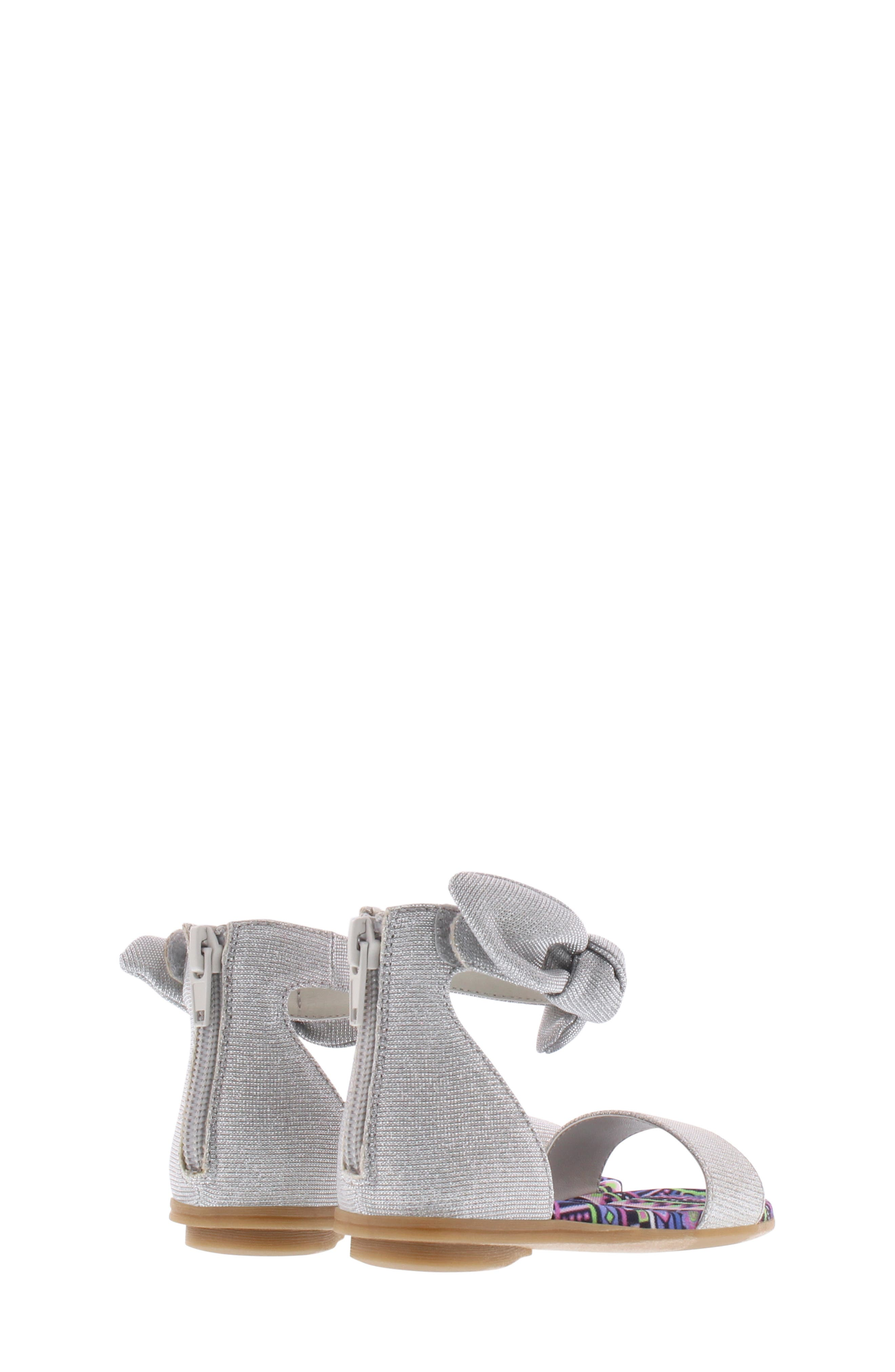 CHOOZE, Bright Daisy Sandal, Alternate thumbnail 2, color, SILVER