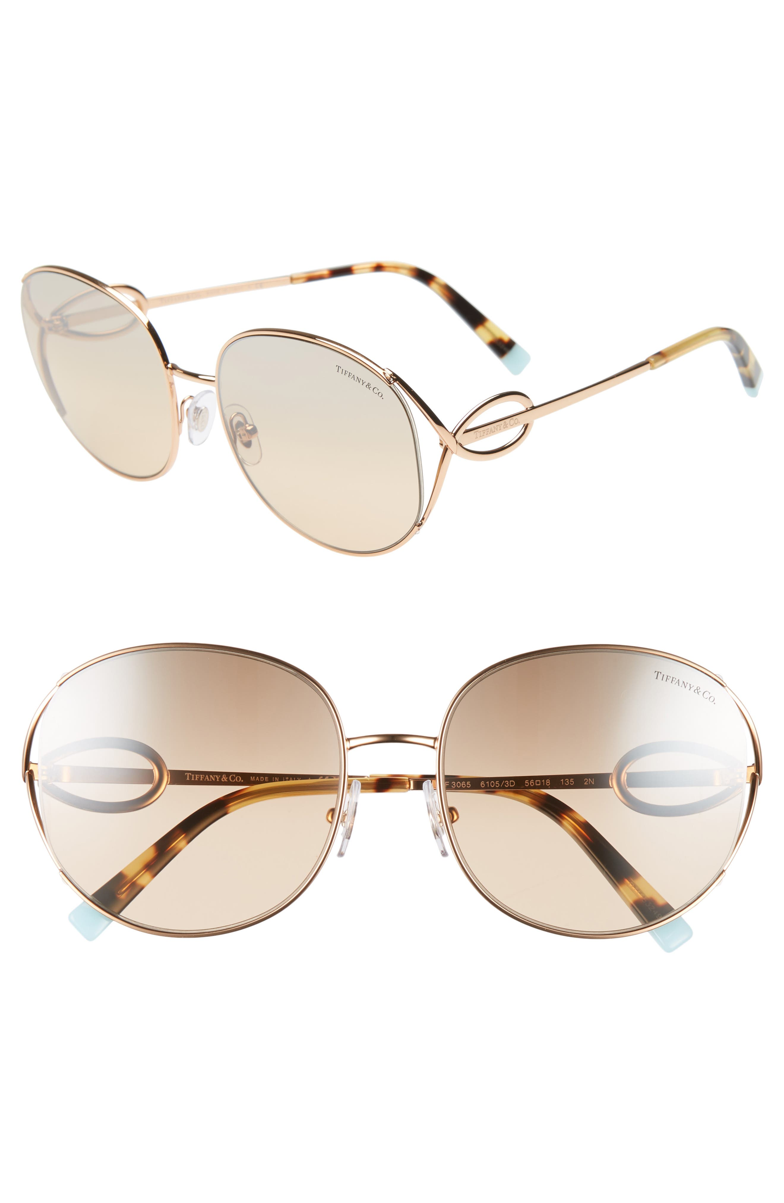 465171866de Women s Tiffany   Co. 56Mm Gradient Round Sunglasses -