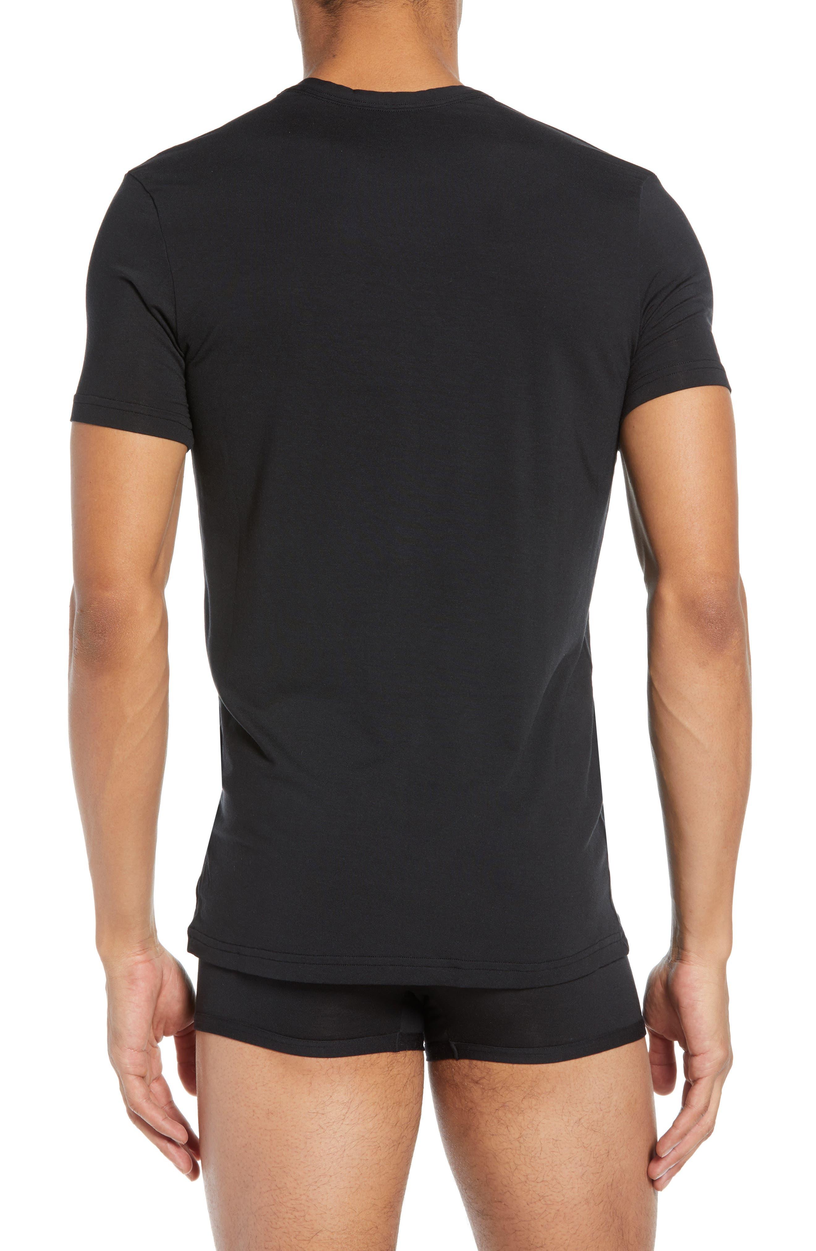 CALVIN KLEIN, Ultrasoft Stretch Modal Blend Crewneck T-Shirt, Alternate thumbnail 2, color, BLACK