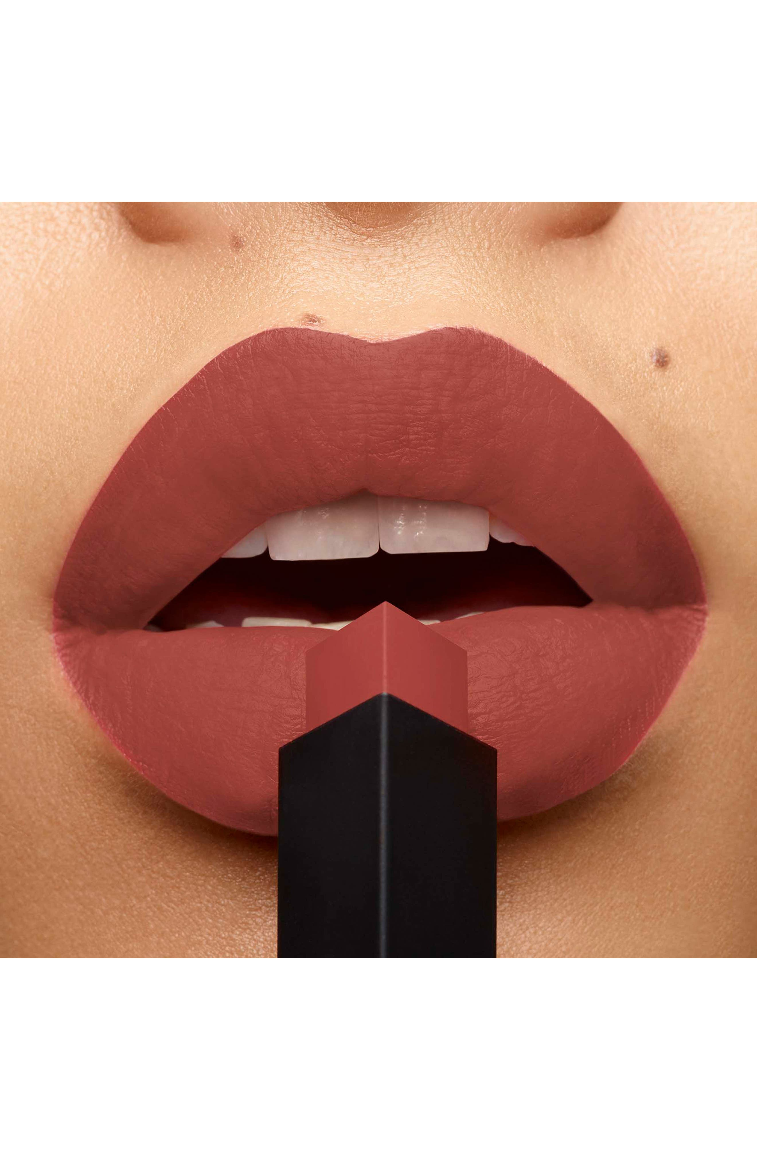 YVES SAINT LAURENT, Rouge Pur Couture The Slim Matte Lipstick, Alternate thumbnail 3, color, 11 AMBIGUOUS BEIGE