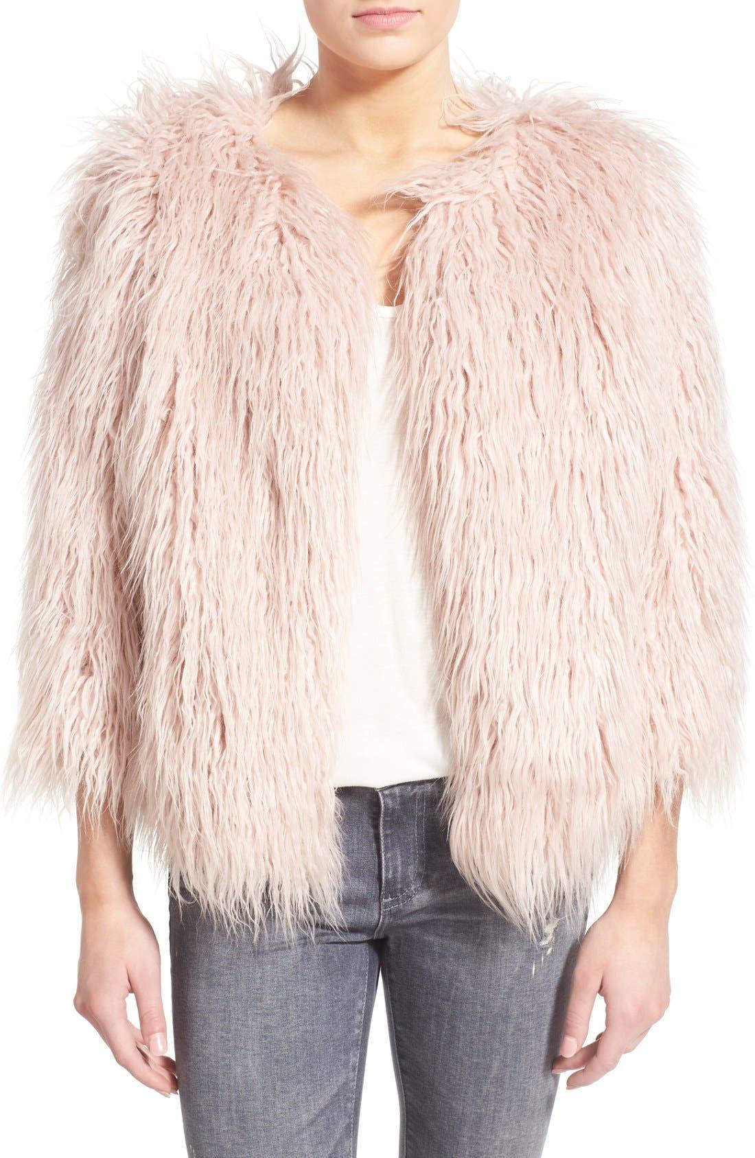 PAM & GELA 'Mongolian' Faux Fur Coat, Main, color, 650