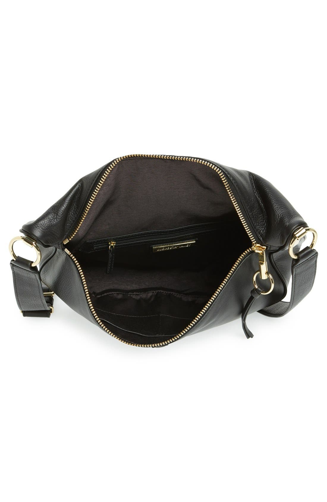 ELIZABETH AND JAMES, 'Scott Moon' Leather Crossbody Bag, Alternate thumbnail 3, color, 001